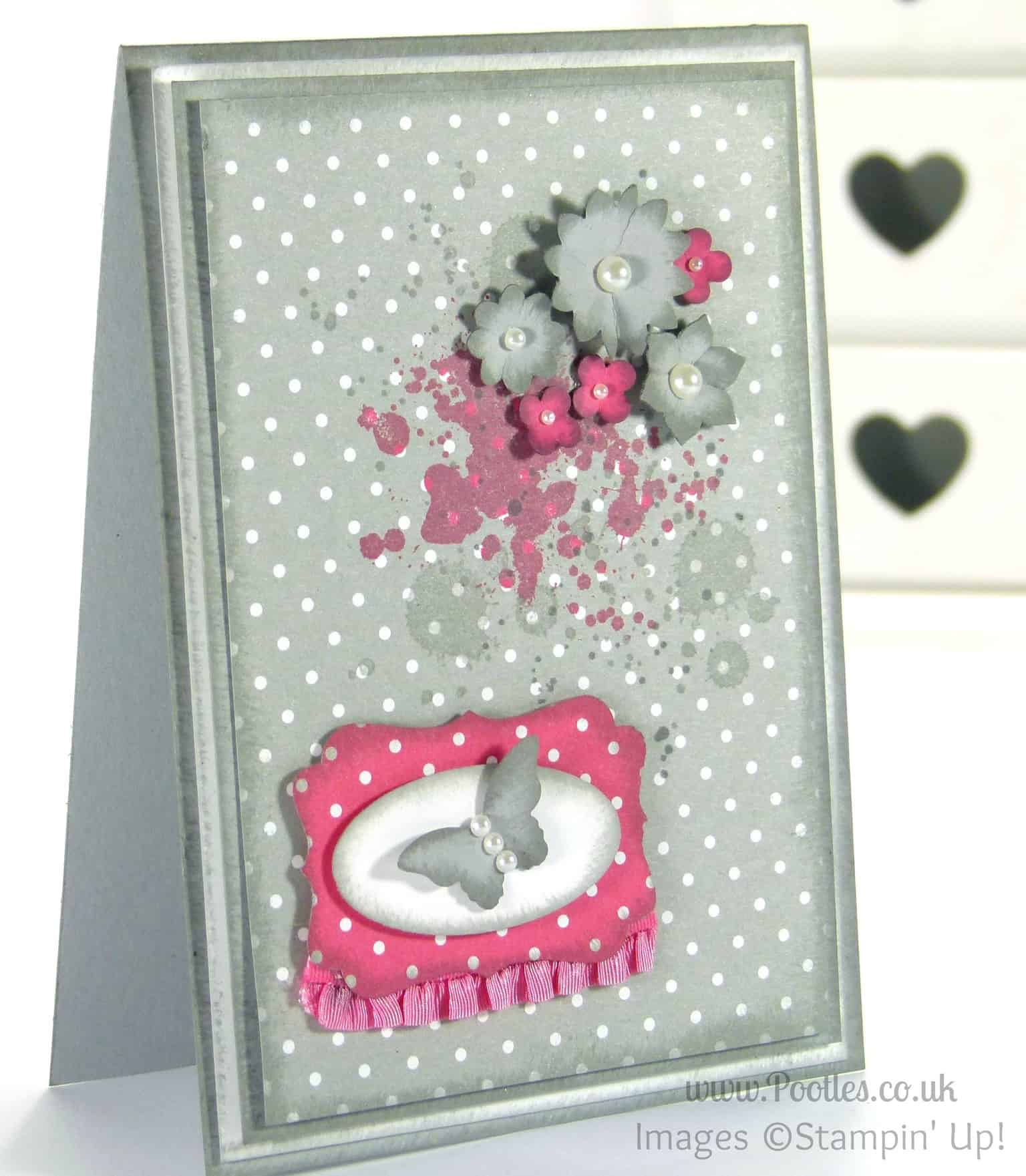Stampin' Up! UK Independent Demonstrator - Pootles. Smokey Slush with a Splash of Butterfly!