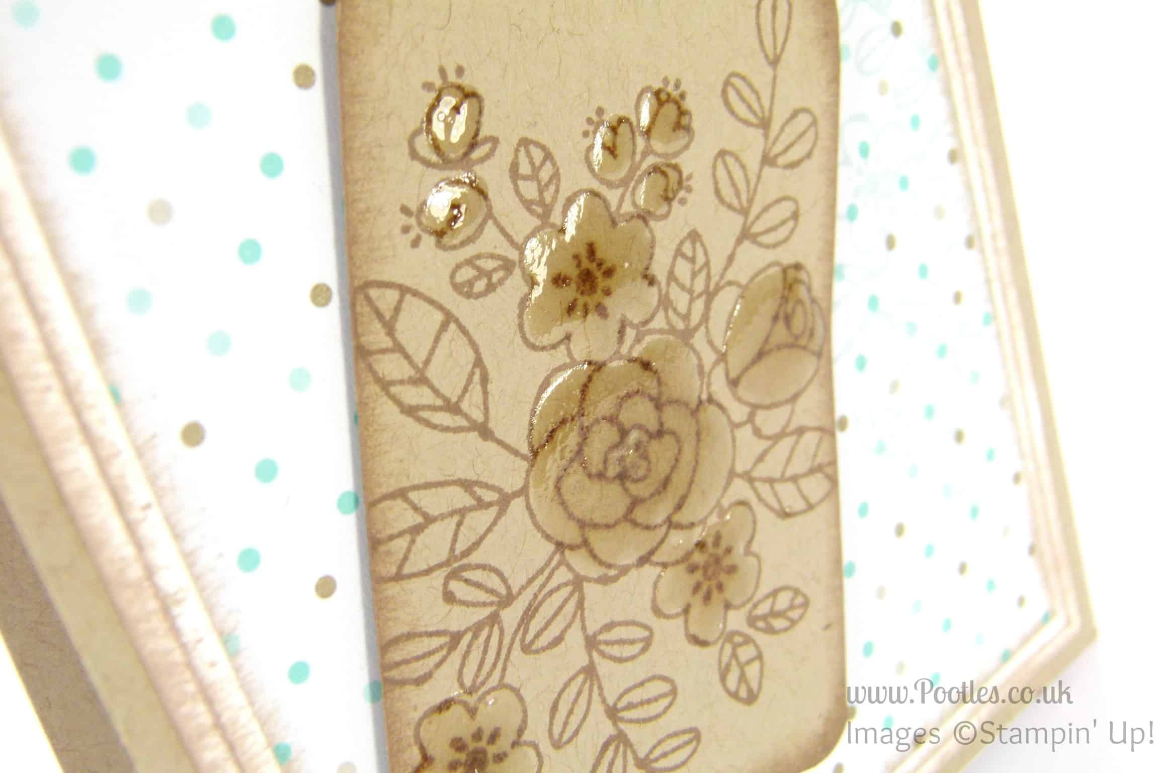 Stampin' Up! UK Independent Demonstrator - Pootles. So Very Grateful for the Tag Topper Punch... close up