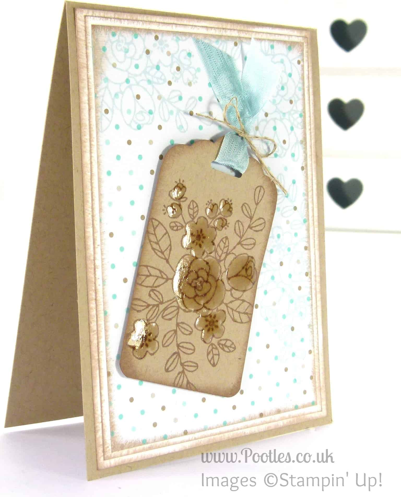 Stampin' Up! UK Independent Demonstrator - Pootles. So Very Grateful for the Tag Topper Punch...