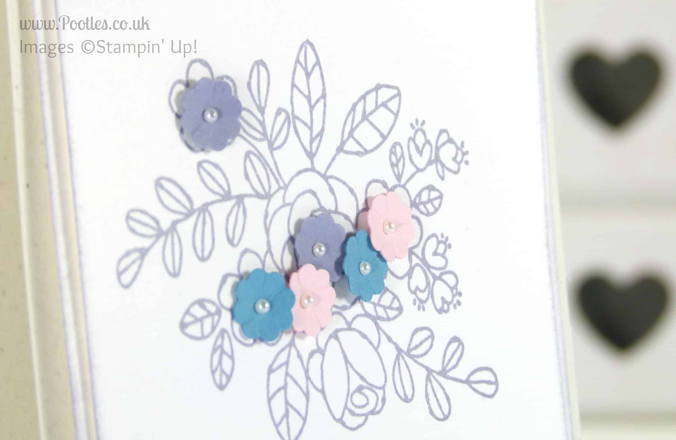 Stampin' Up! UK Independent Demonstrator - Pootles. Thank You... Close Up
