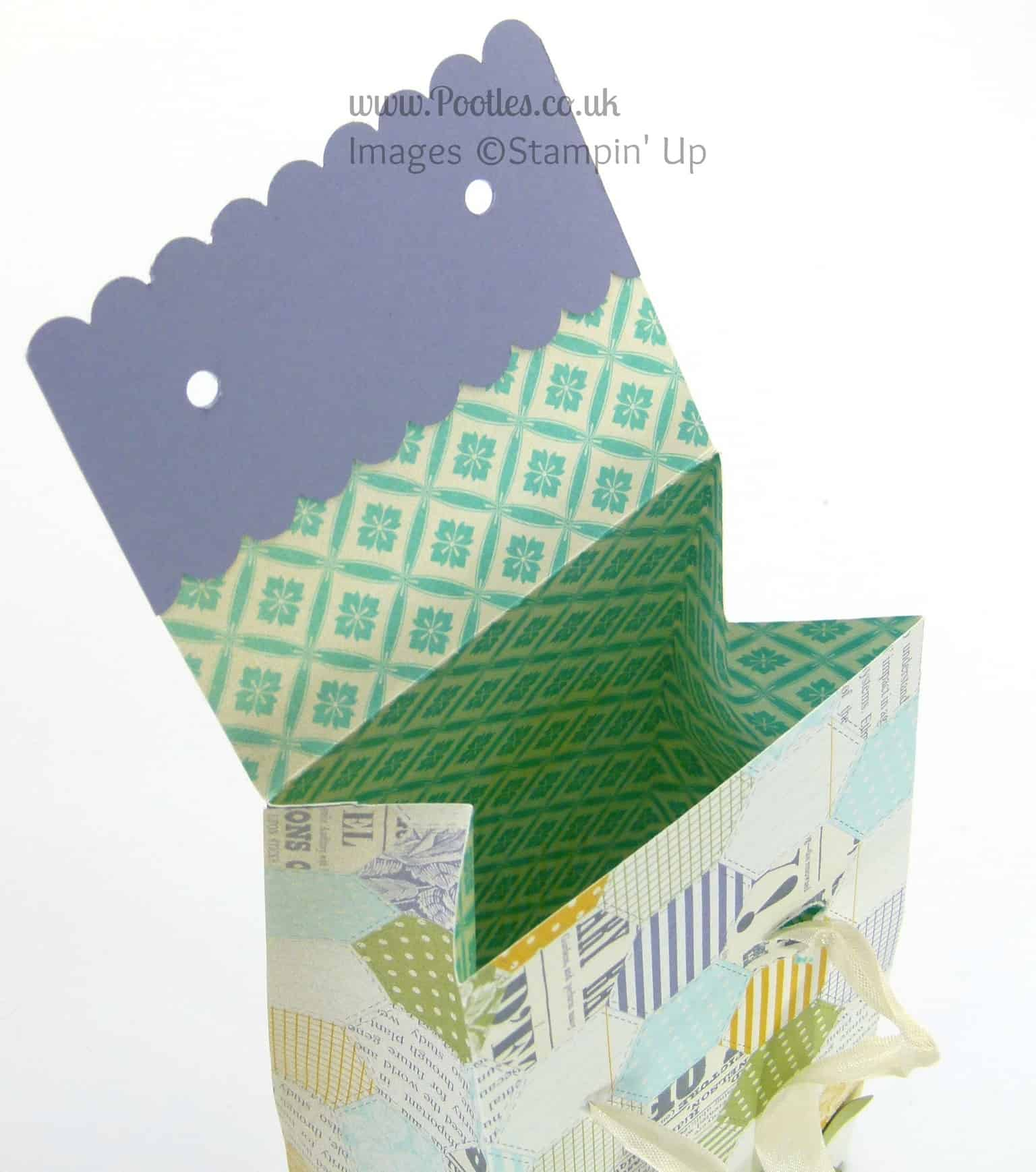 Stampin' Up! UK Independent Demonstrator Pootles - The Extra Large Paper Bag Tutorial! Open