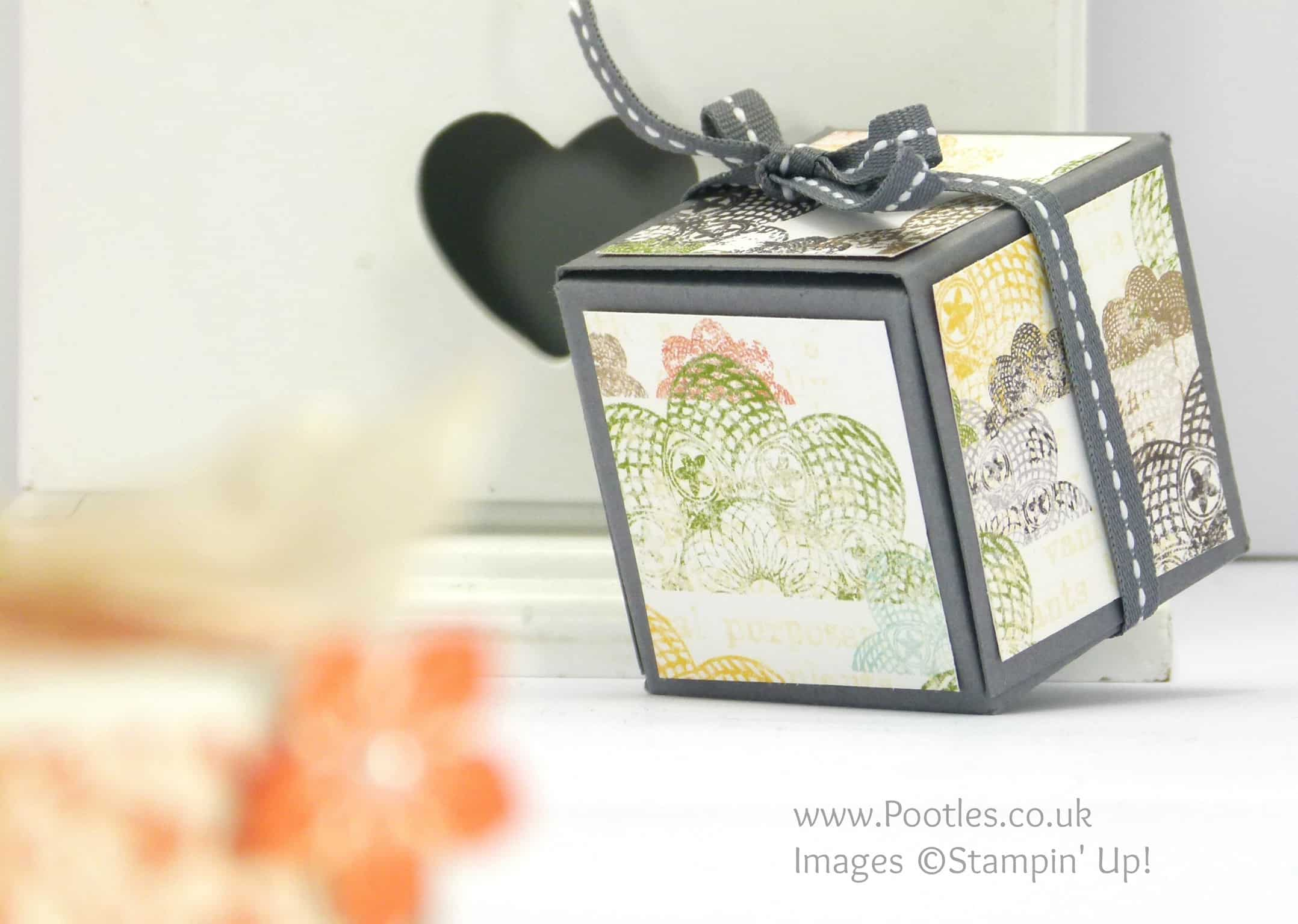 Stampin' Up! UK Independent Demonstrator - Pootles Unusual Fold Out Votive Candle Box Tutorial Epic Day
