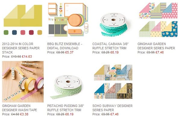 Weekly Deals from Stampin' Up! UK May 14th – 20th