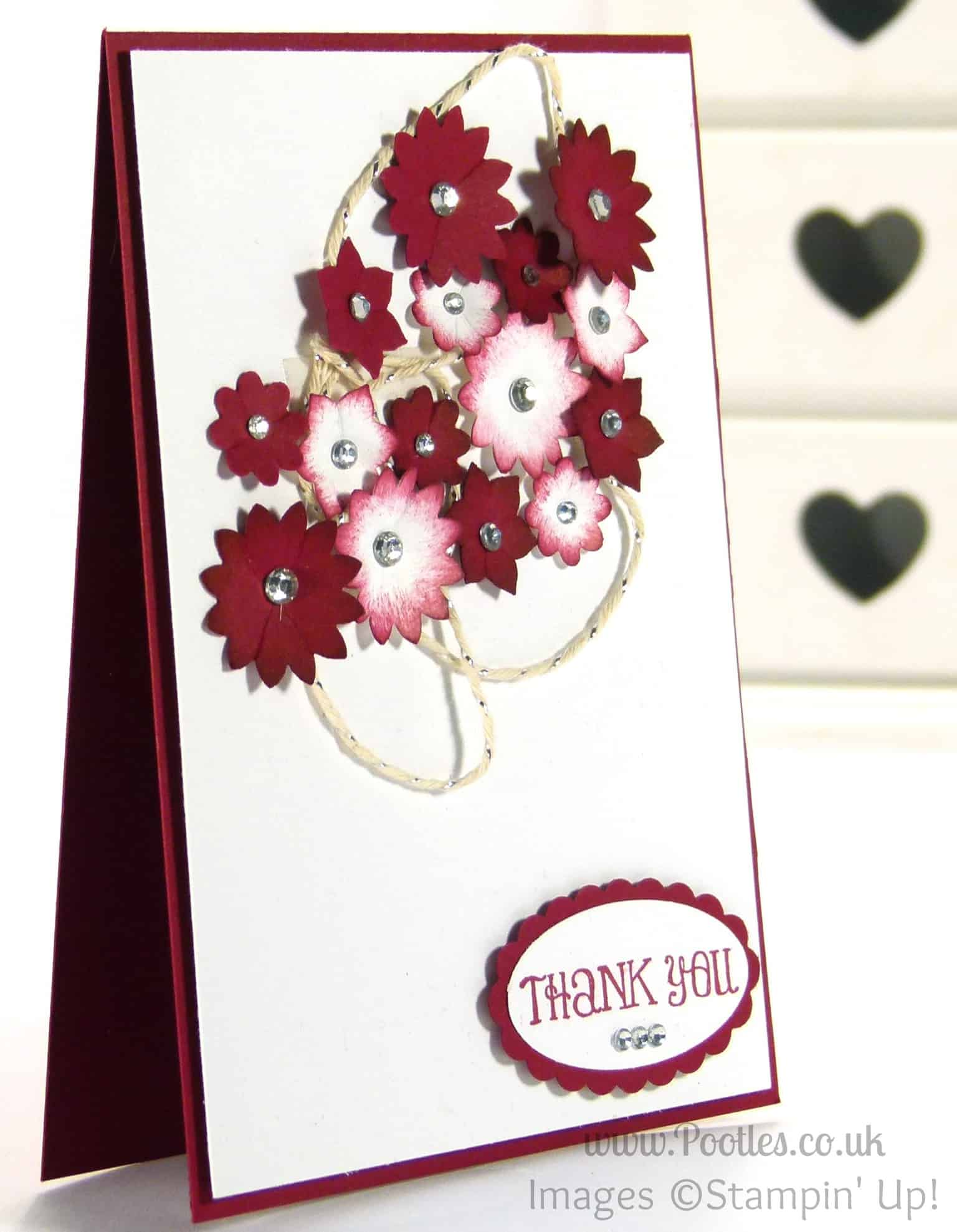 Floral Card using Stampin' Up! Boho Blossoms Punch (giveaway!)