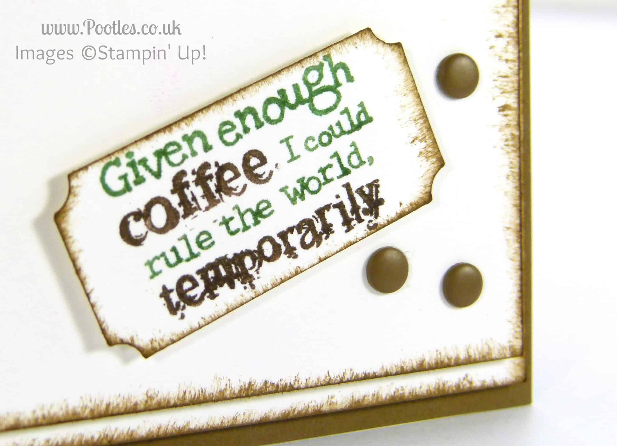 South Hill Designs and Stampin' up! on Sunday! Perfect Blend Card Tutorial Close Up