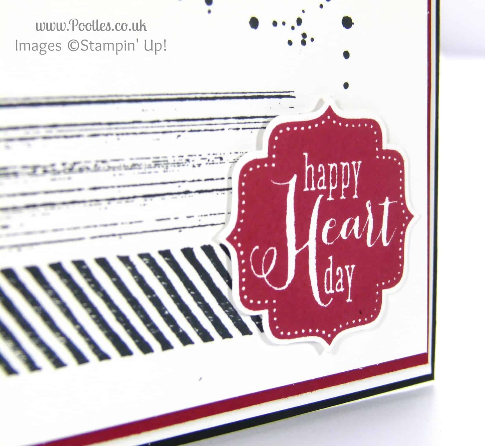 South Hill Designs and Stampin' Up! on Sundays Happy Anniversary Chris... Card close up!
