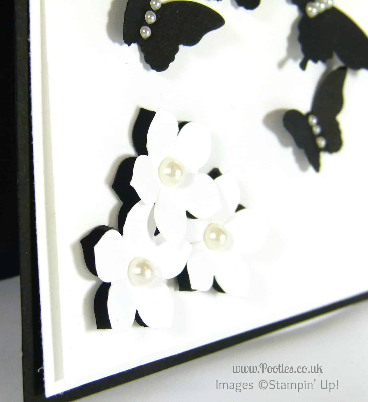 Black and White Butterflies using Stampin' Up! Punches