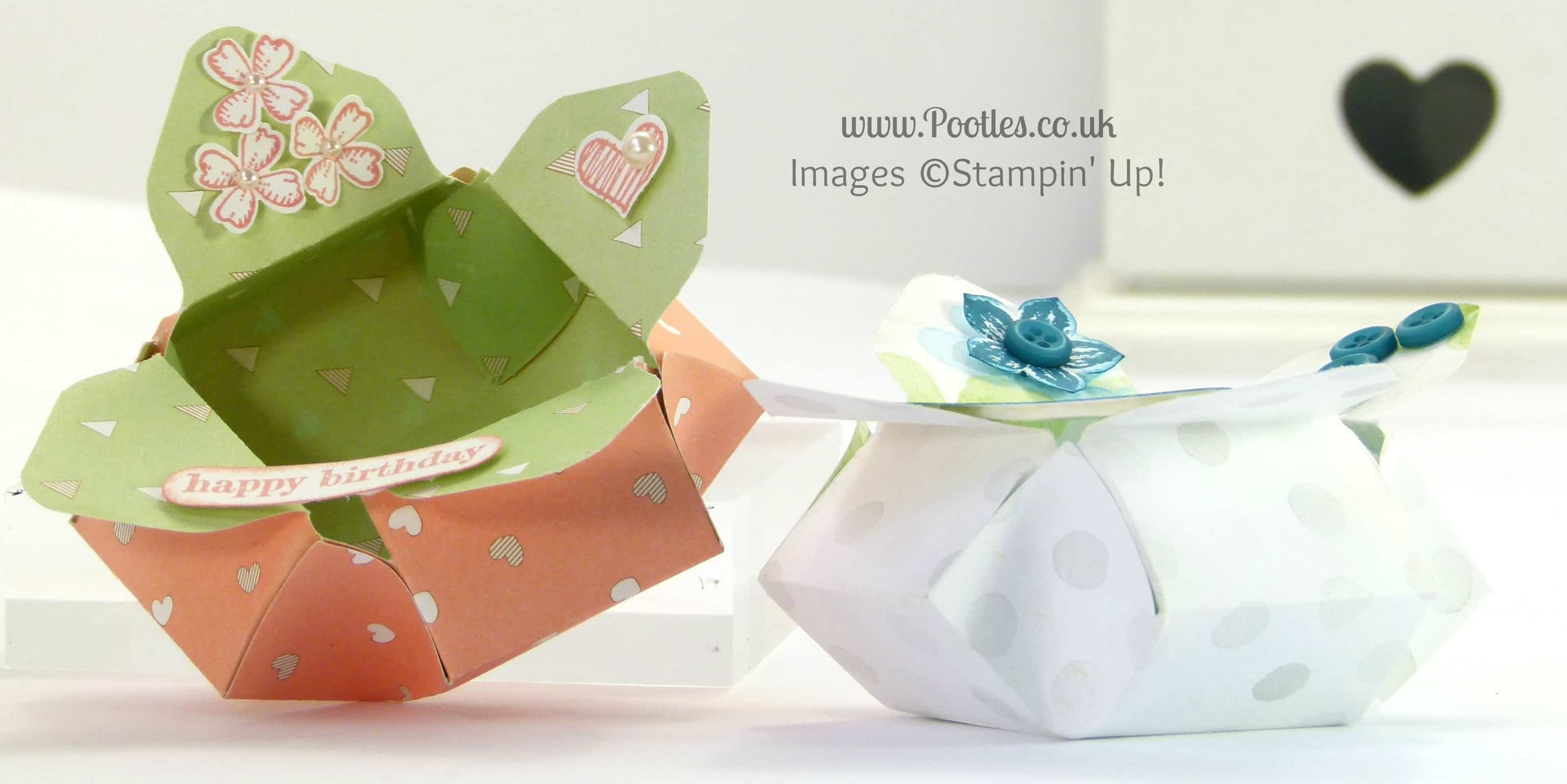 Stampin' Up! UK Demonstrator Pootles - Envelope Punch Board Pretty Petal Pot!