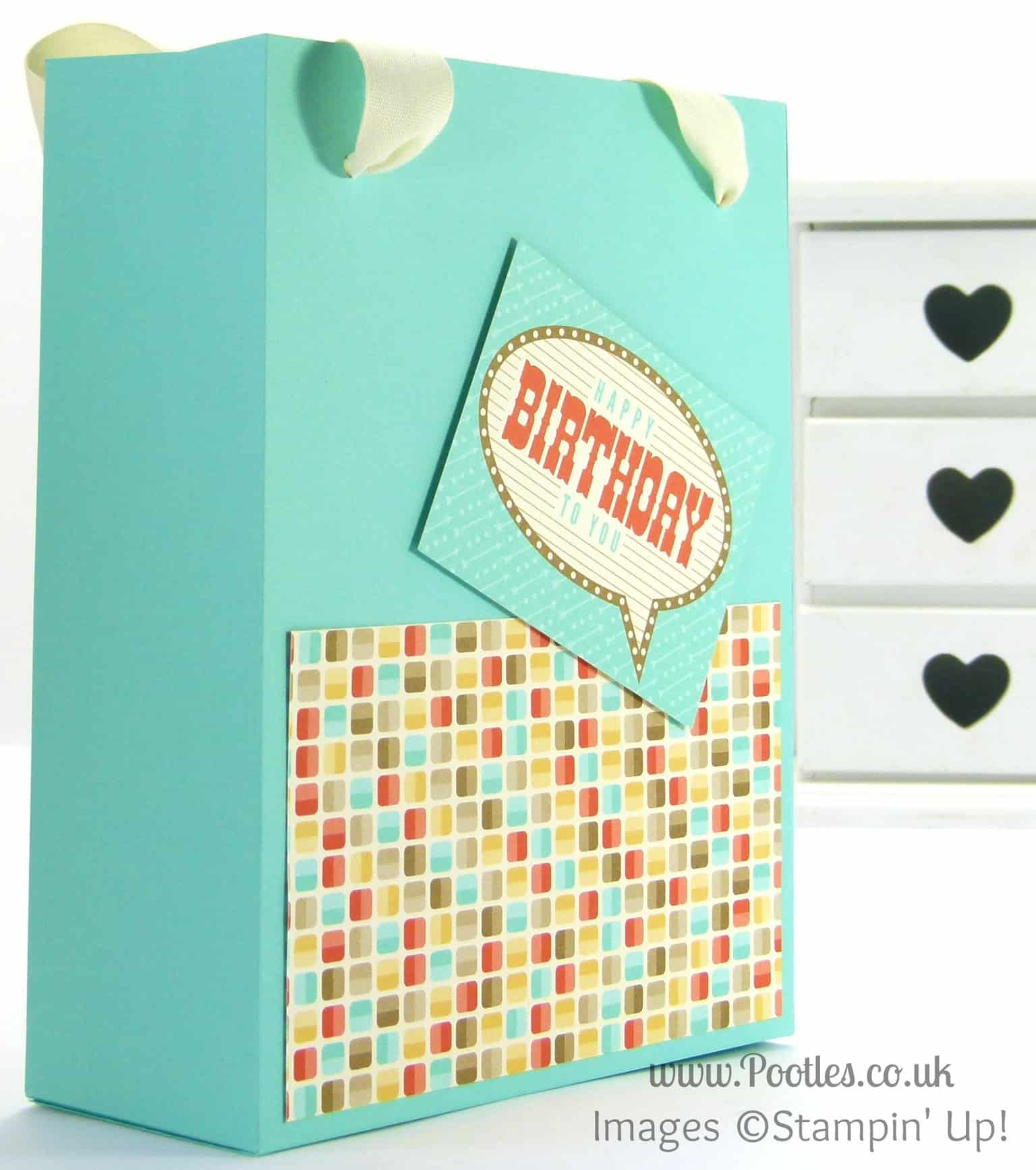 Stampin' Up! UK Demonstrator Pootles - Extra Massive Bag Box Tutorial Retro Fresh