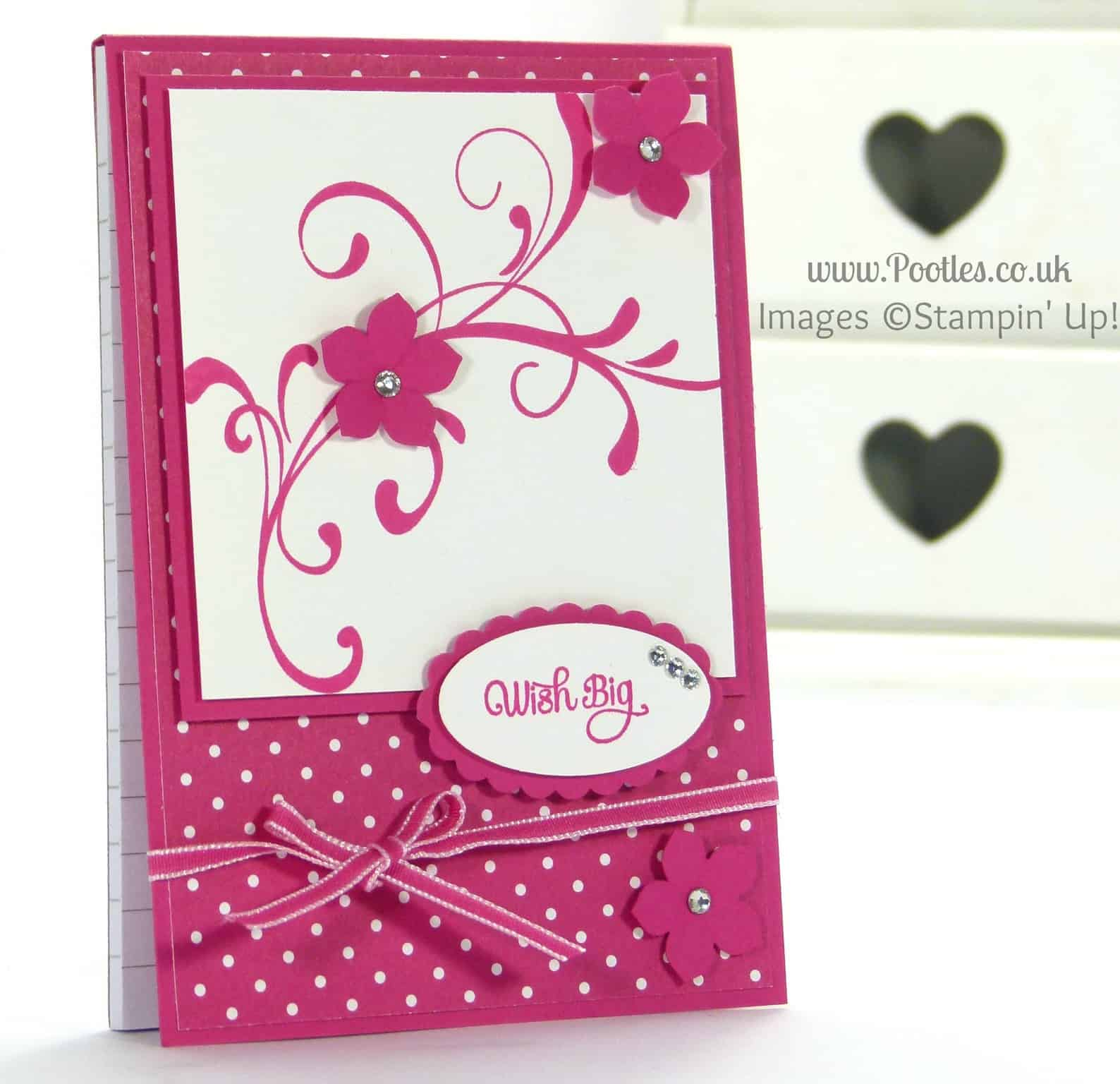 Stampin' Up! UK Demonstrator Pootles - How to Measure and Layer to Cover a Notebook Tutorial