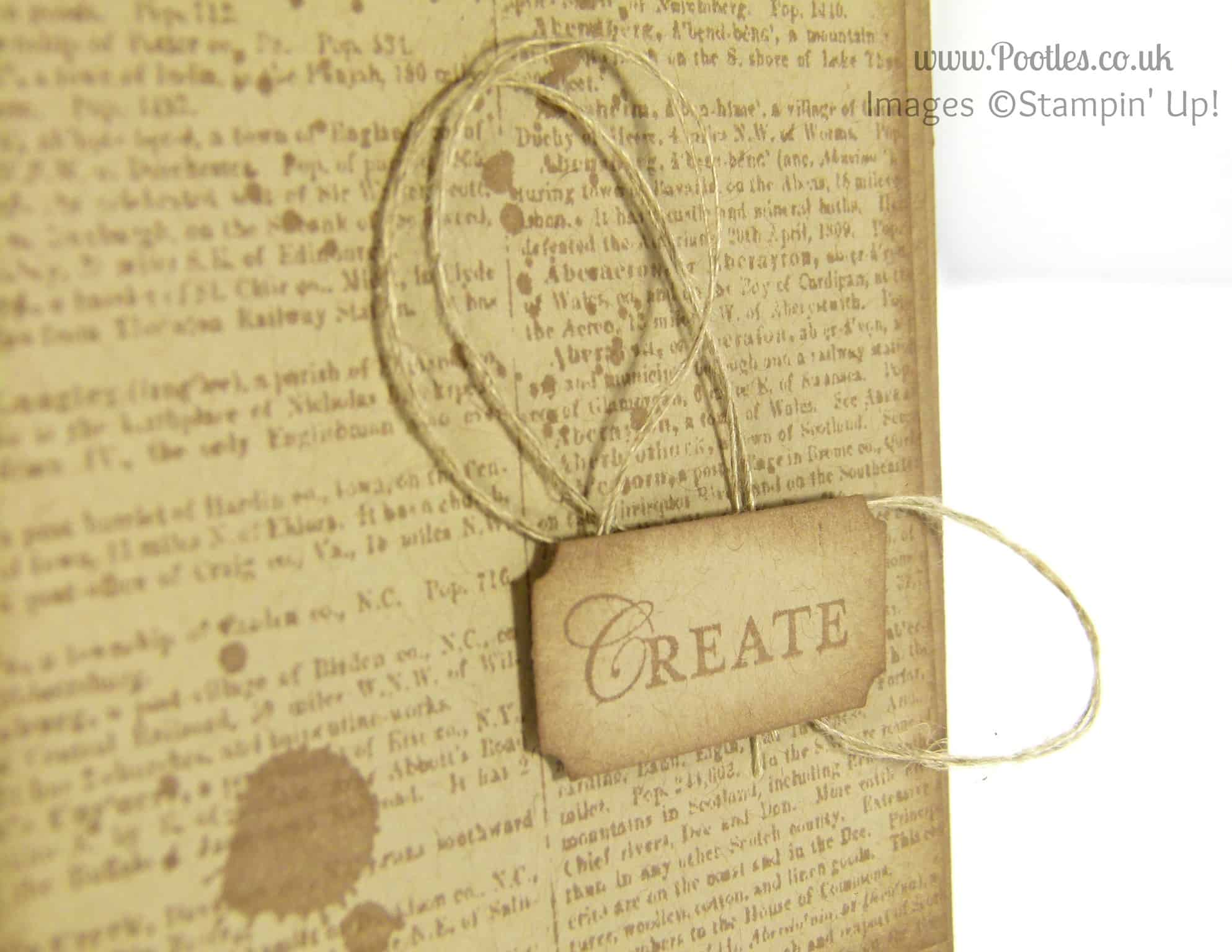 Stampin' Up! UK Demonstrator Pootles - Loving Thoughts of a Dictionary Teacher Card Perhaps... Loving Thoughts stamp detail