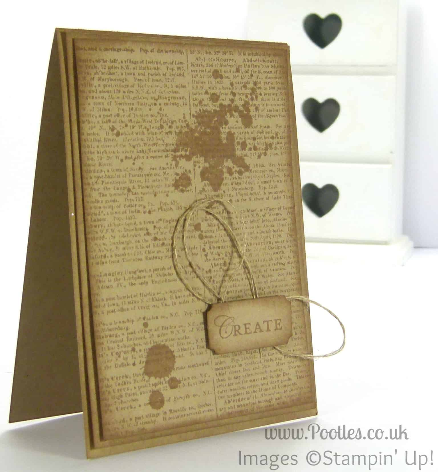 Stampin' Up! UK Demonstrator Pootles - Loving Thoughts of a Dictionary Teacher Card Perhaps...
