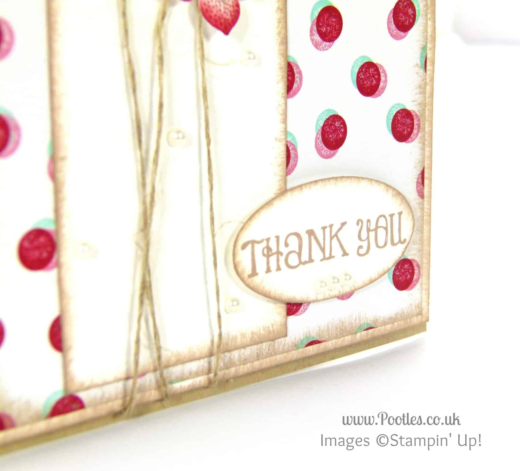 Stampin' Up! UK Demonstrator Pootles - Pretty Petite Fresh Prints Floral Card Lots of Thanks Stamp Detail