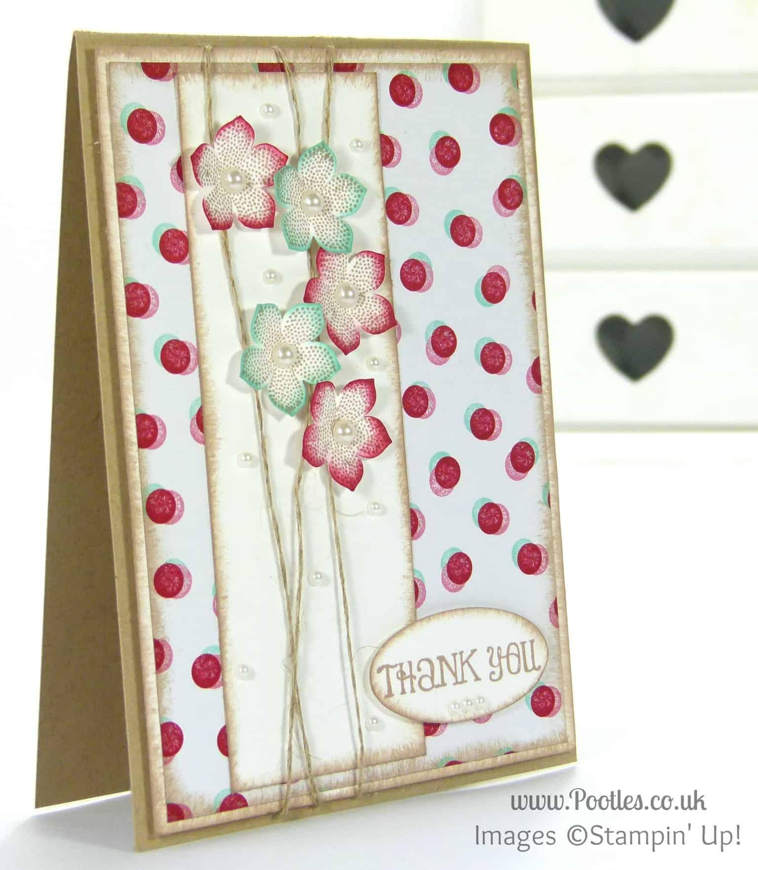 Stampin' Up! UK Demonstrator Pootles - Pretty Petite Fresh Prints Floral Card