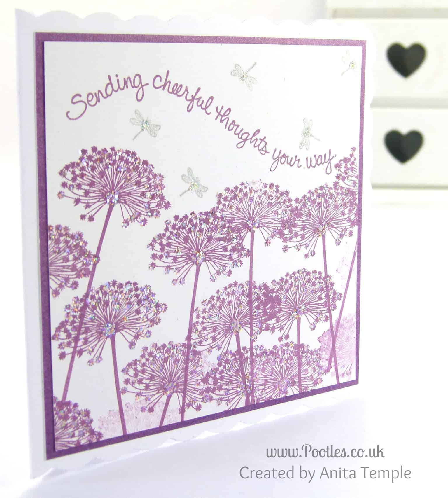 Stampin' Up! UK Demonstrator Pootles - Serene Sillhouettes Inspired Card Anita's Card