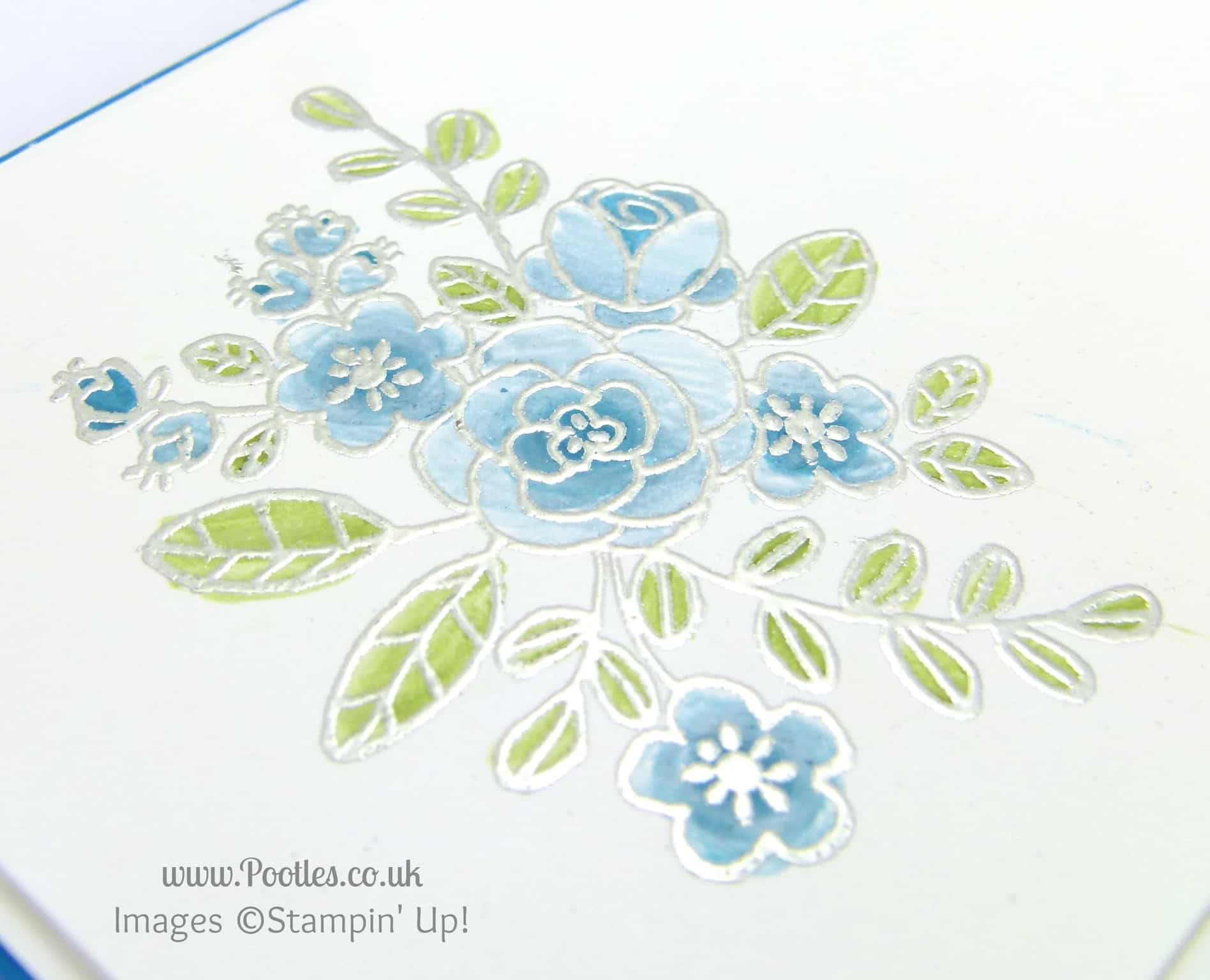 Stampin' Up! UK Demonstrator Pootles - So Very Grateful for.... Heat Embossing Of Course I am! Detail