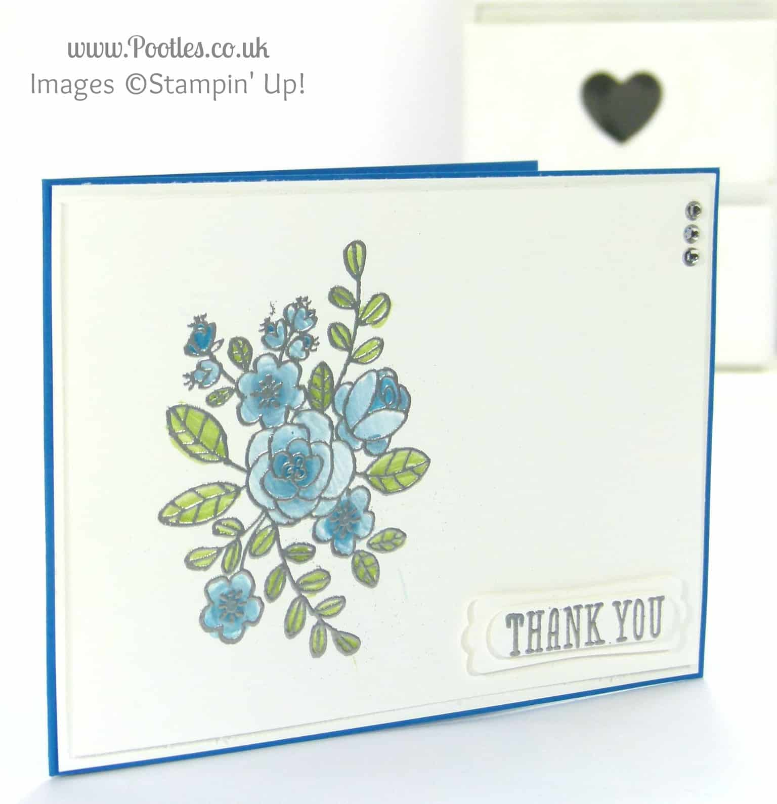 Stampin' Up! UK Demonstrator Pootles - So Very Grateful for.... Heat Embossing Of Course I am!