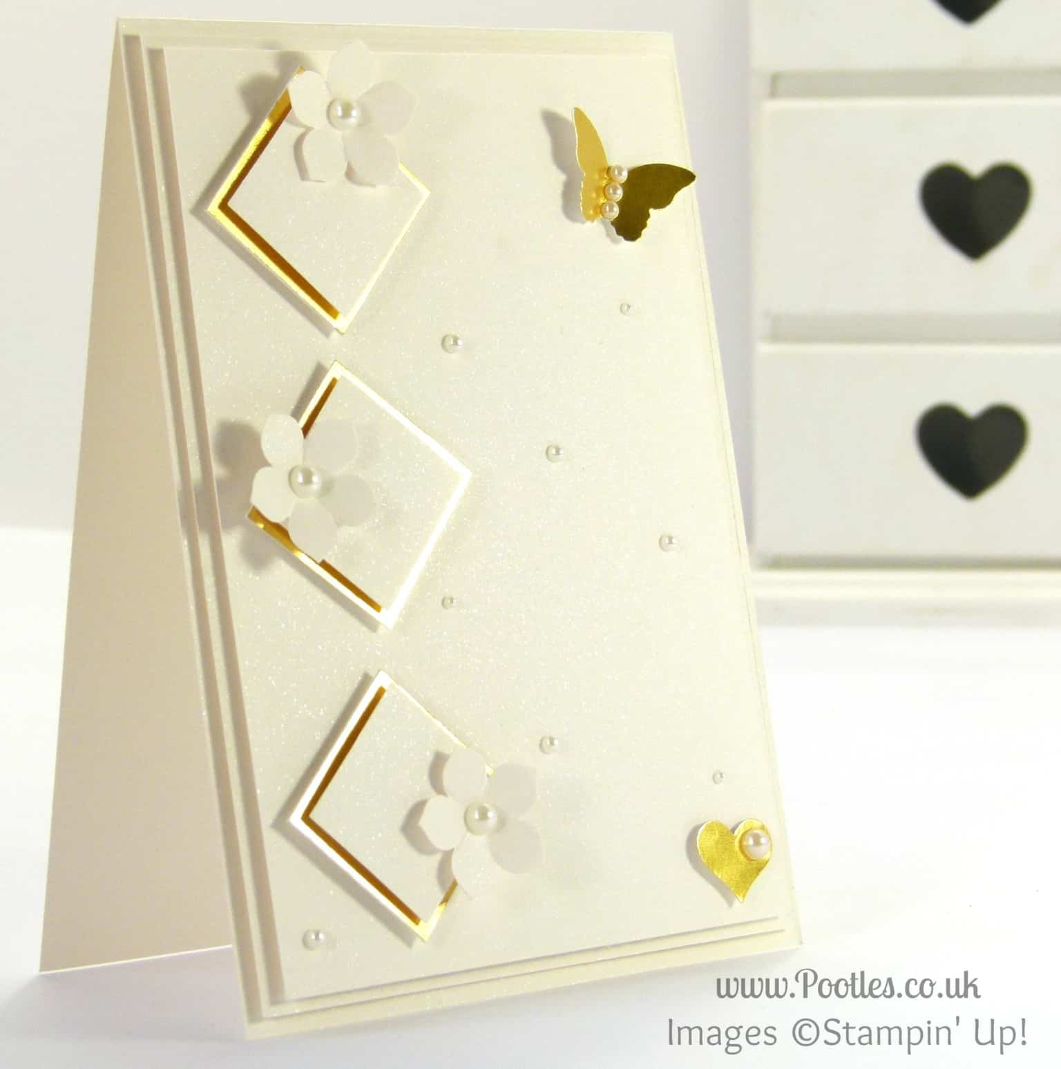 Stampin' Up! UK Demonstrator Pootles - South Hill Designs on Sunday The Gold Diamond Card