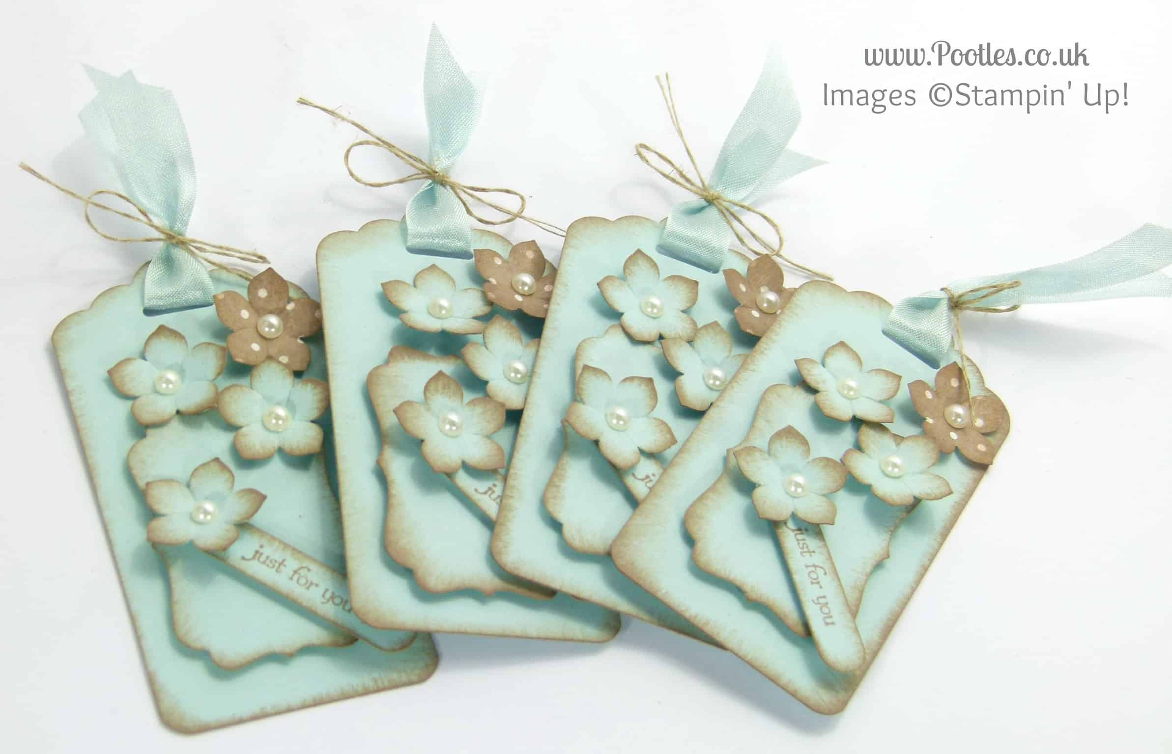 Stampin' Up! UK Independent Demonstrator Pootles - A Gift Box of Tags (the tags!)
