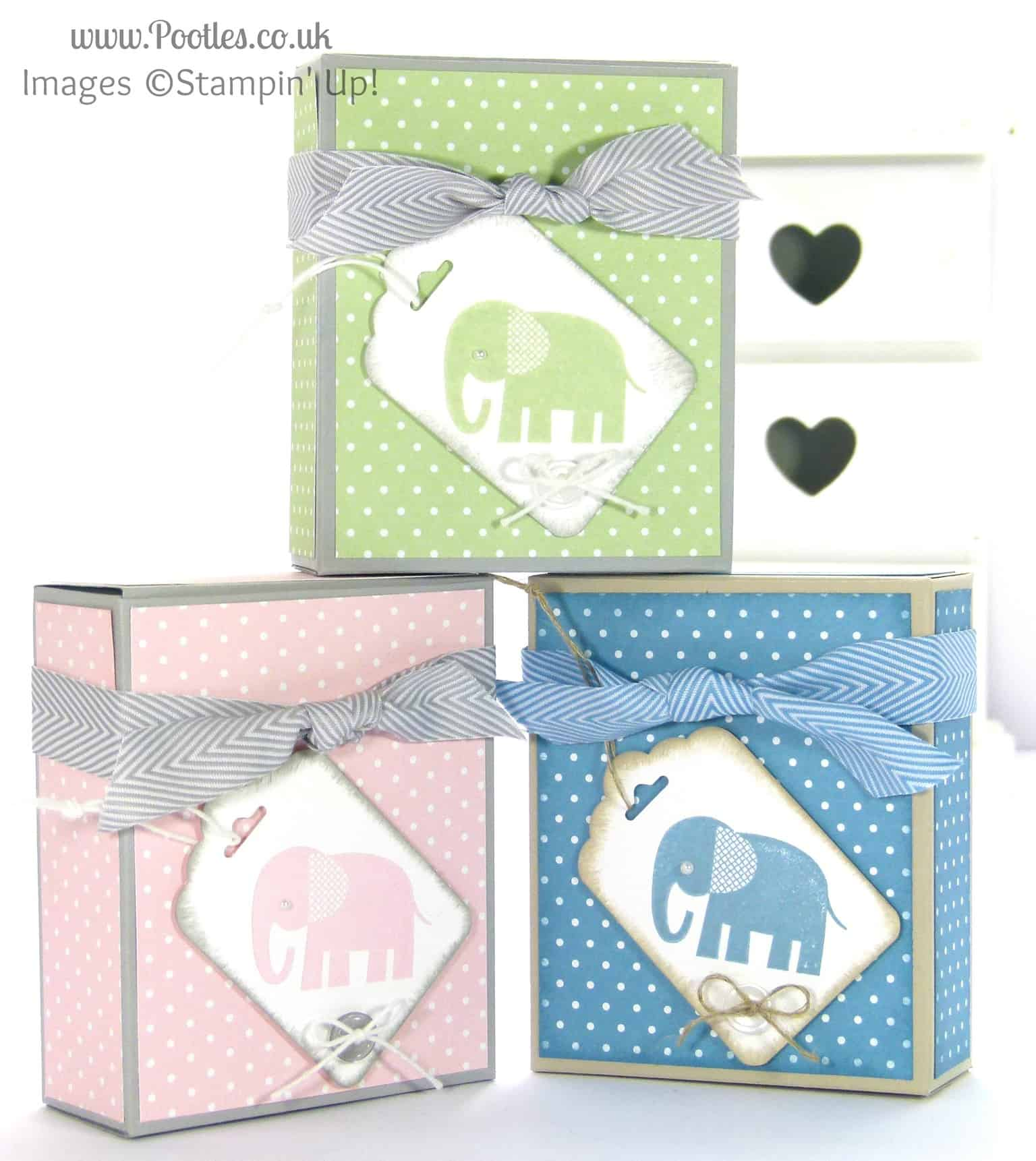 Stampin' Up! UK Independent Demonstrator Pootles - Adorable Box for Baby Bibs and Gifts