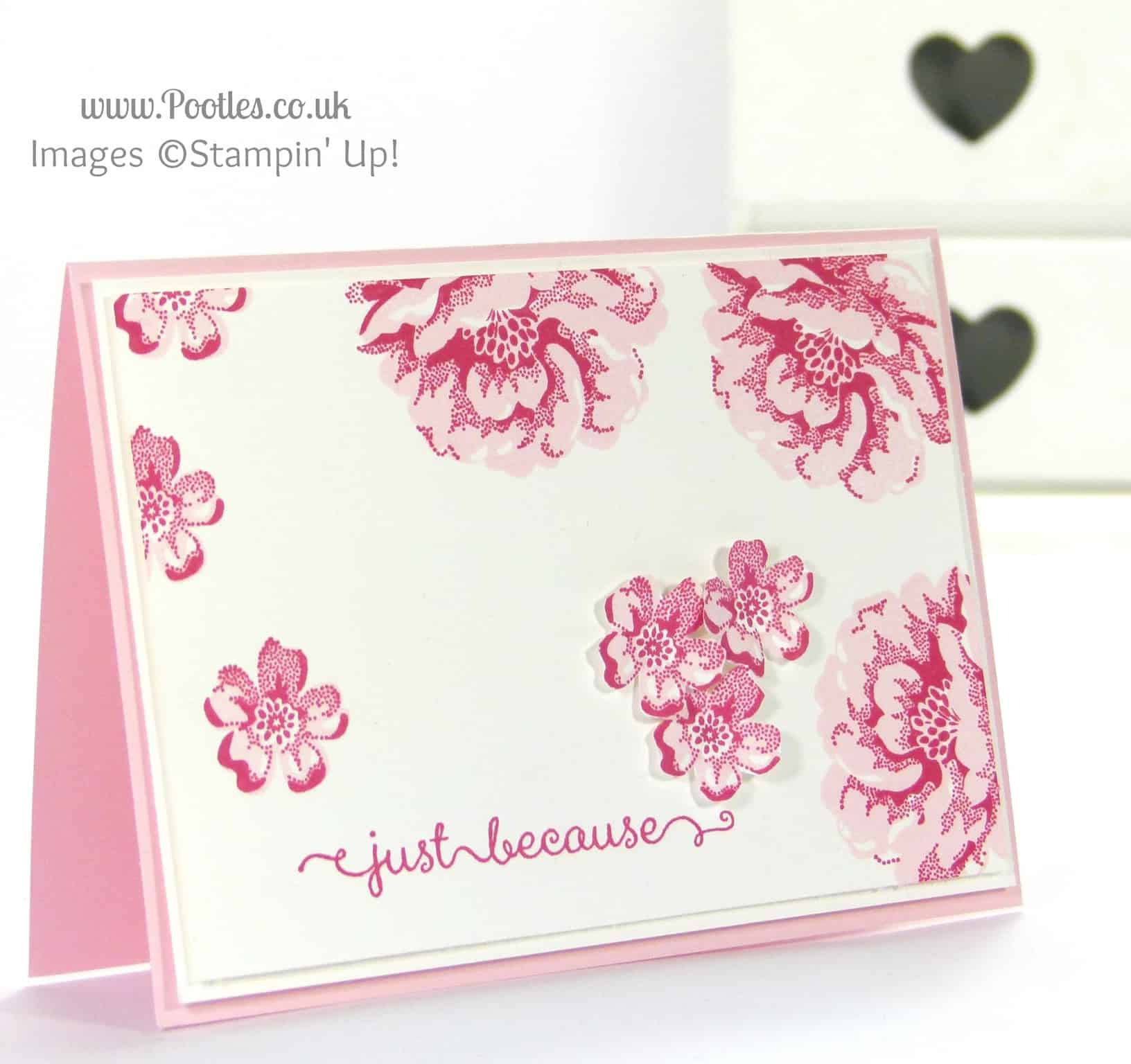 Stampin' Up! UK Independent Demonstrator Pootles - Floral Handmade Card using Stampin' Up! Stippled Blossoms