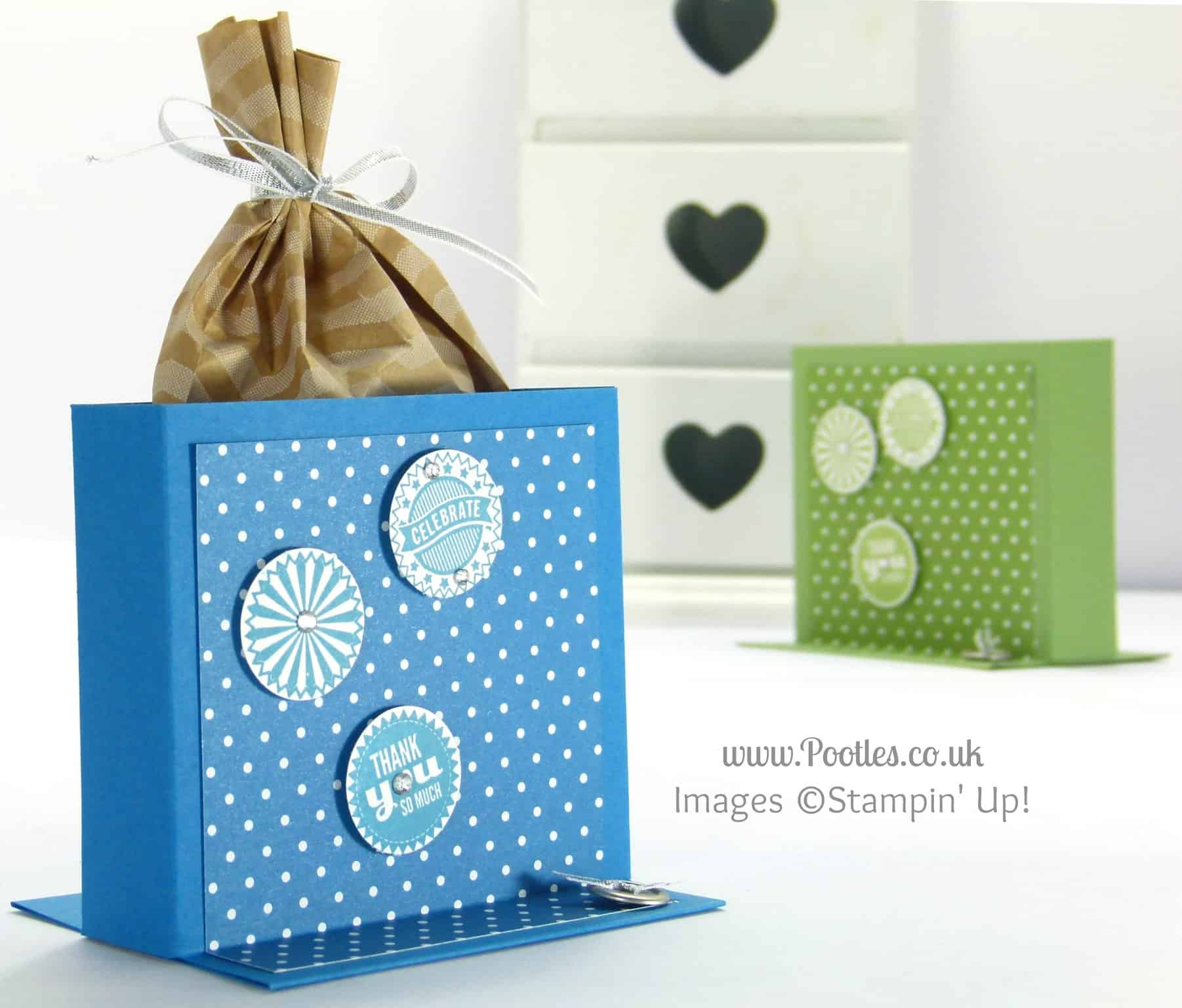 Stampin' Up! UK Independent Demonstrator Pootles - Freestanding Treat Bag Holder Tutorial