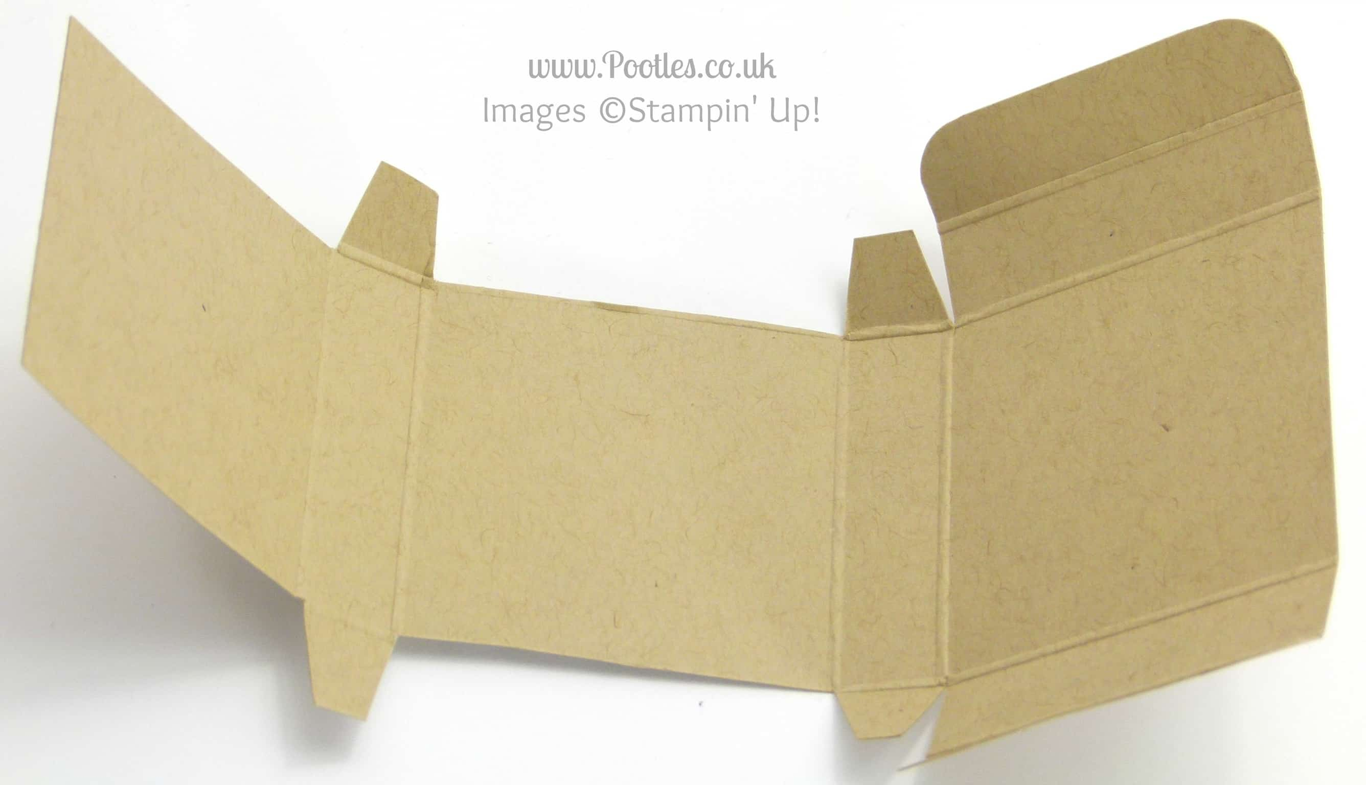 Stampin' up! UK Independent Demonstrator Pootles - No Stick Box Tutorial Unfolded