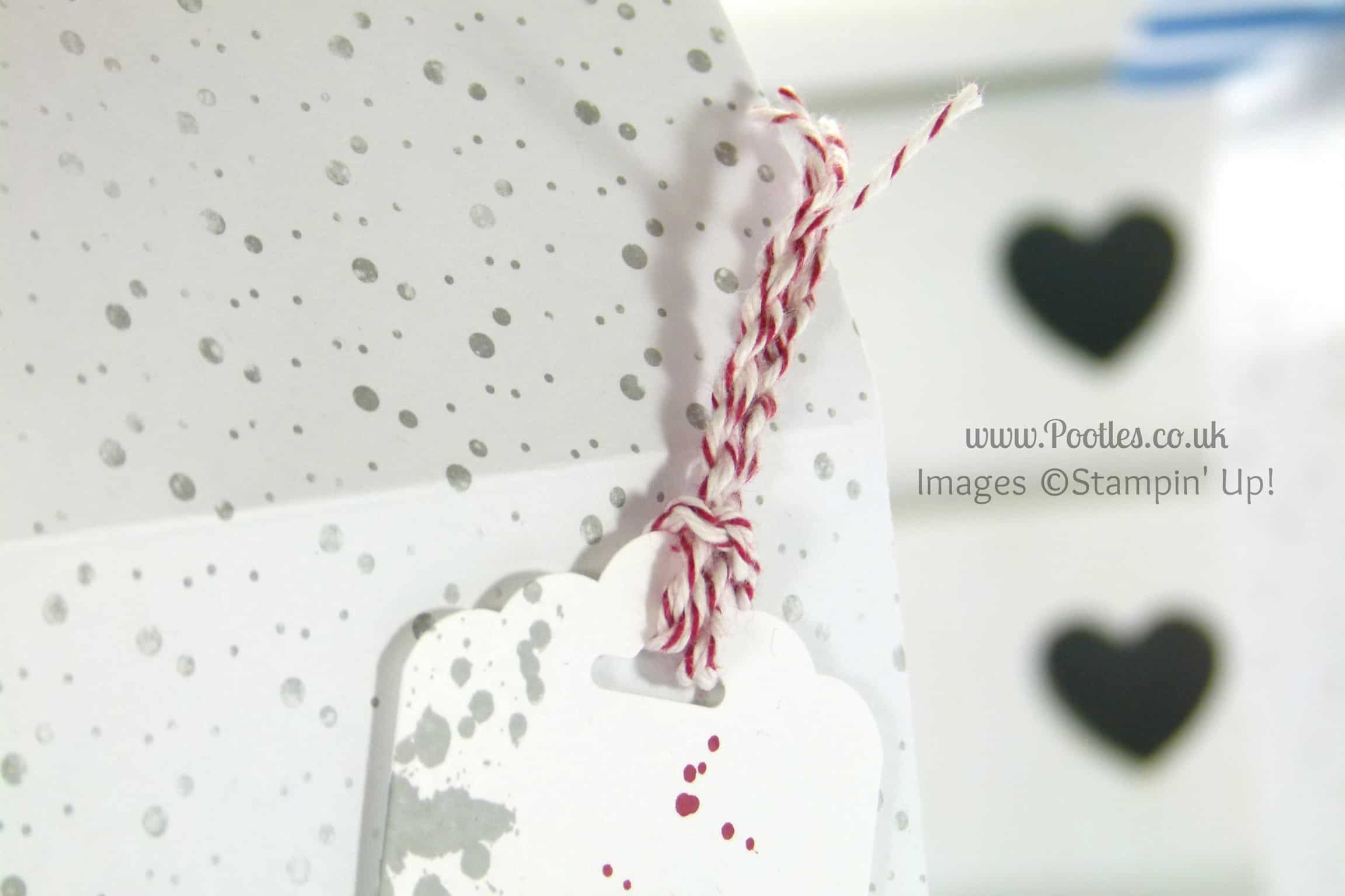 Stampin' Up! UK Independent Demonstrator Pootles - Super Huge Extra Large Paper Bag Tutorial Using Stampin' Up! DSP Twisted Bakers Twine Detail