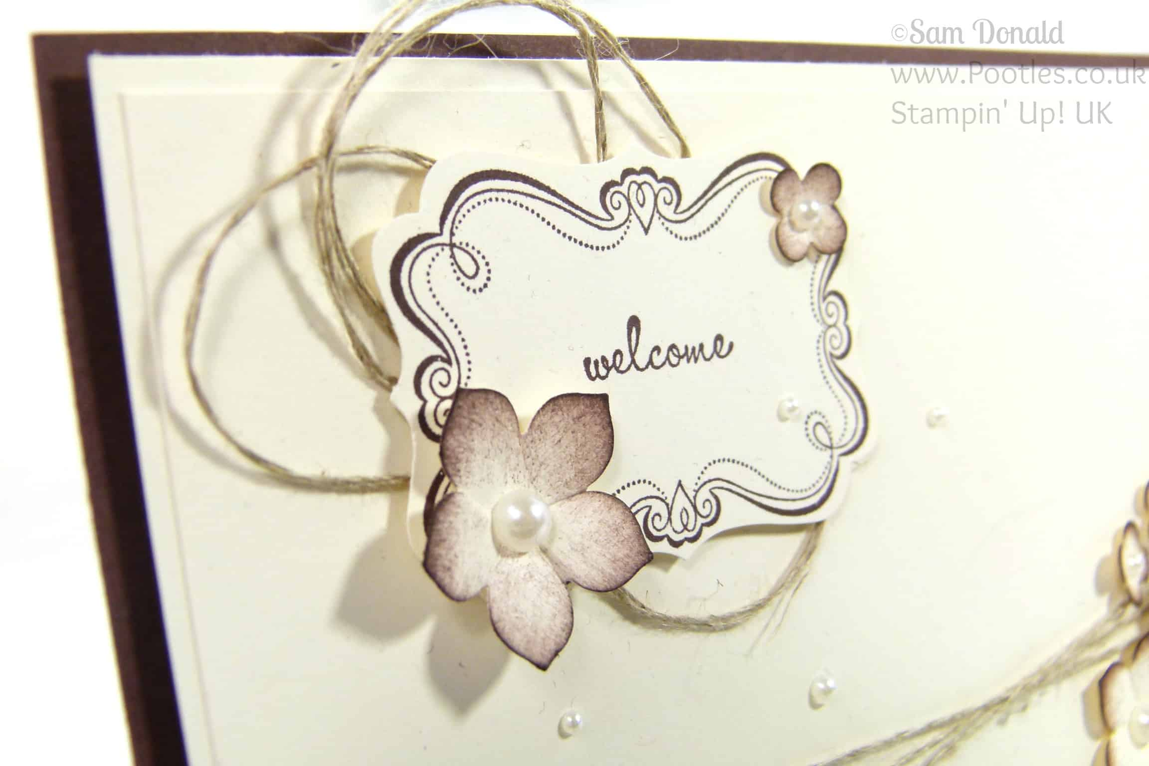 Stampin' Up! UK Independent Demonstrator Pootles - Sweetly Framed New Neighbours! Sentiment Detail