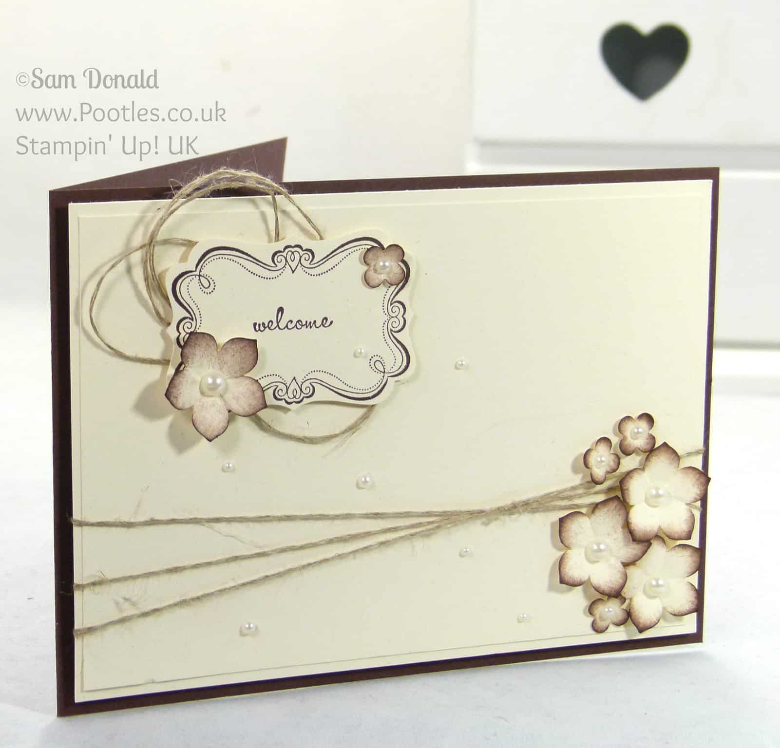 Stampin' Up! UK Independent Demonstrator Pootles - Sweetly Framed New Neighbours!