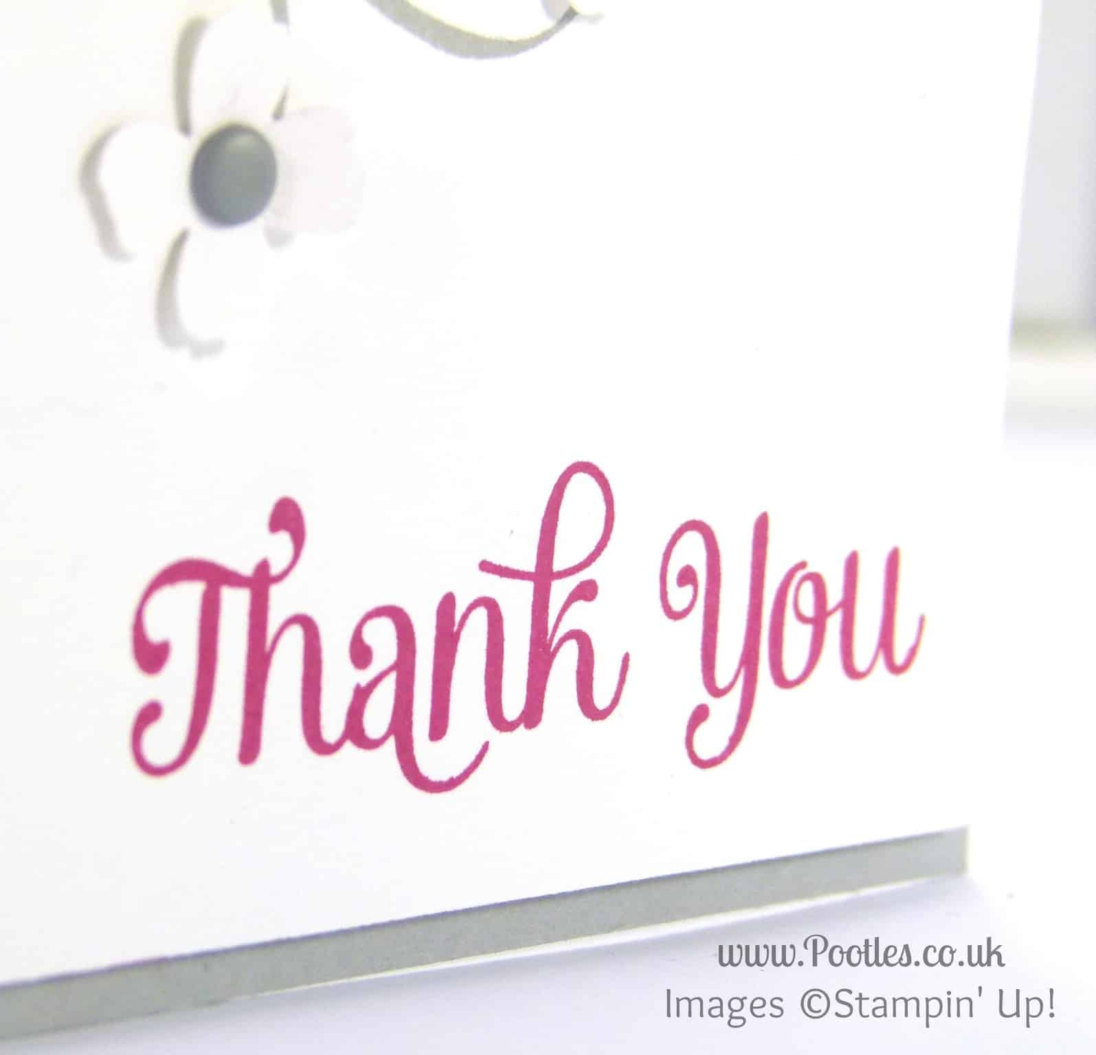 Stampin' Up! UK Independent Demonstrator Pootles - Thank You Four (!) Everything Eleanor! Four You Close Up