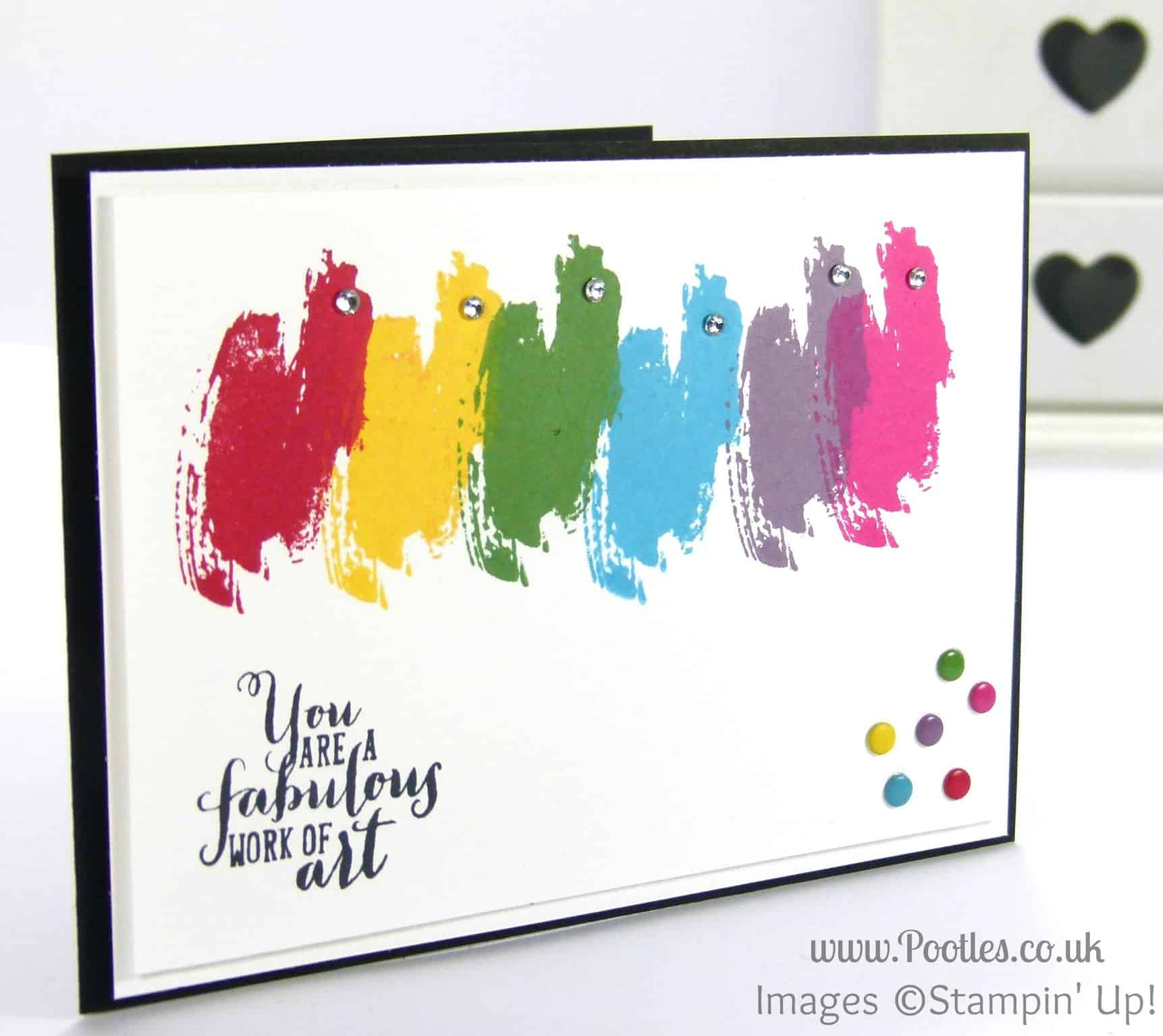 Stampin Up UK Pootles - Work of Art Rainbow