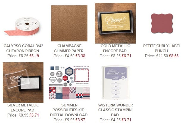 stampin up uk weekly deals june 25th