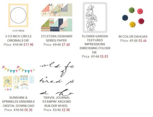 Weekly Deals from Stampin' Up! UK June 18th