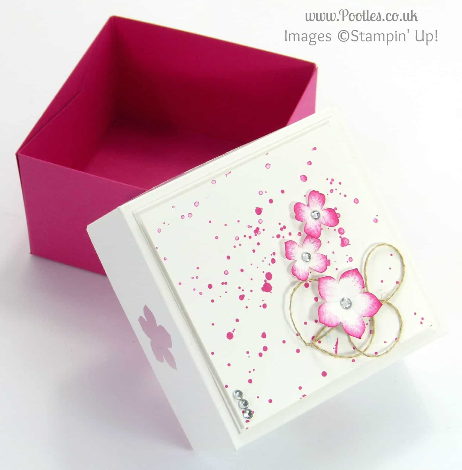 3x3 Car Box for Swaps for US Stampin' Up! Convention 2014 Tutorial Open