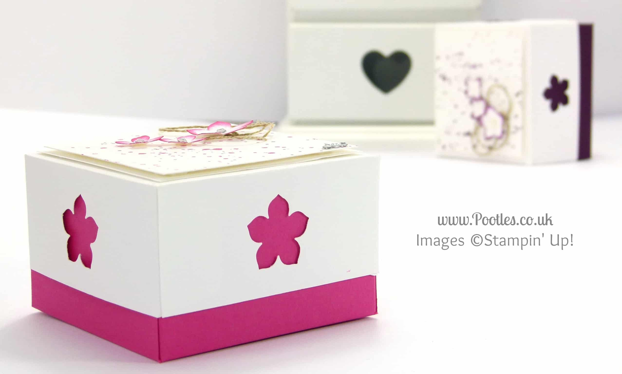 3x3 Car Box for Swaps for US Stampin' Up! Convention 2014 Tutorial