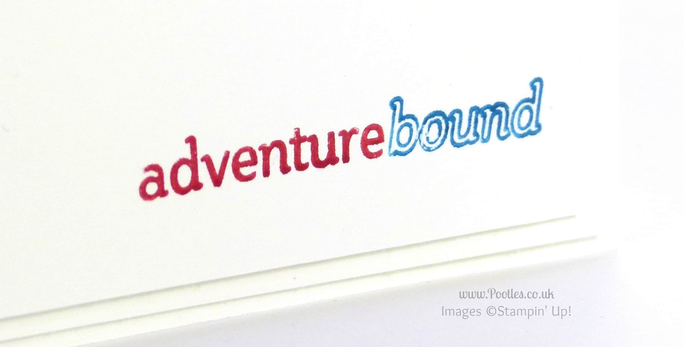 South Hill & Stampin' up! on Sunday Adventure Bound Close Up Stamped Detail