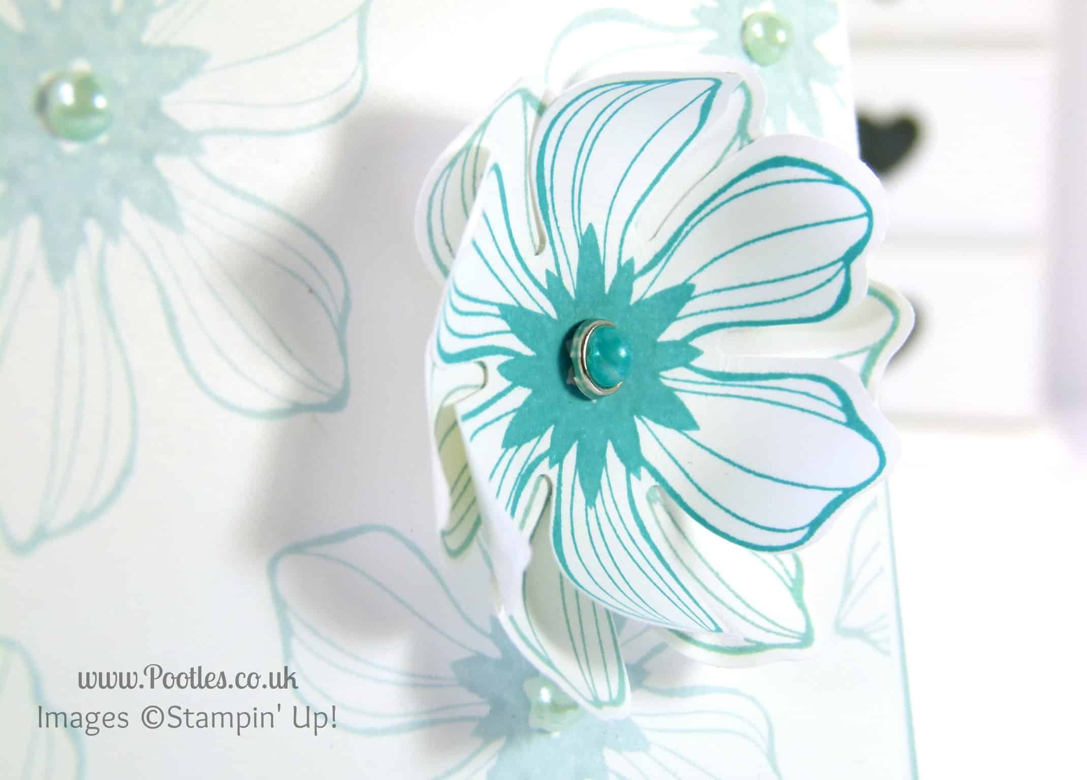 Stampin' Up! UK Demonstrator Pootles - Beautiful Bunch Card using Stampin' Up! Products Blendabilities Detail