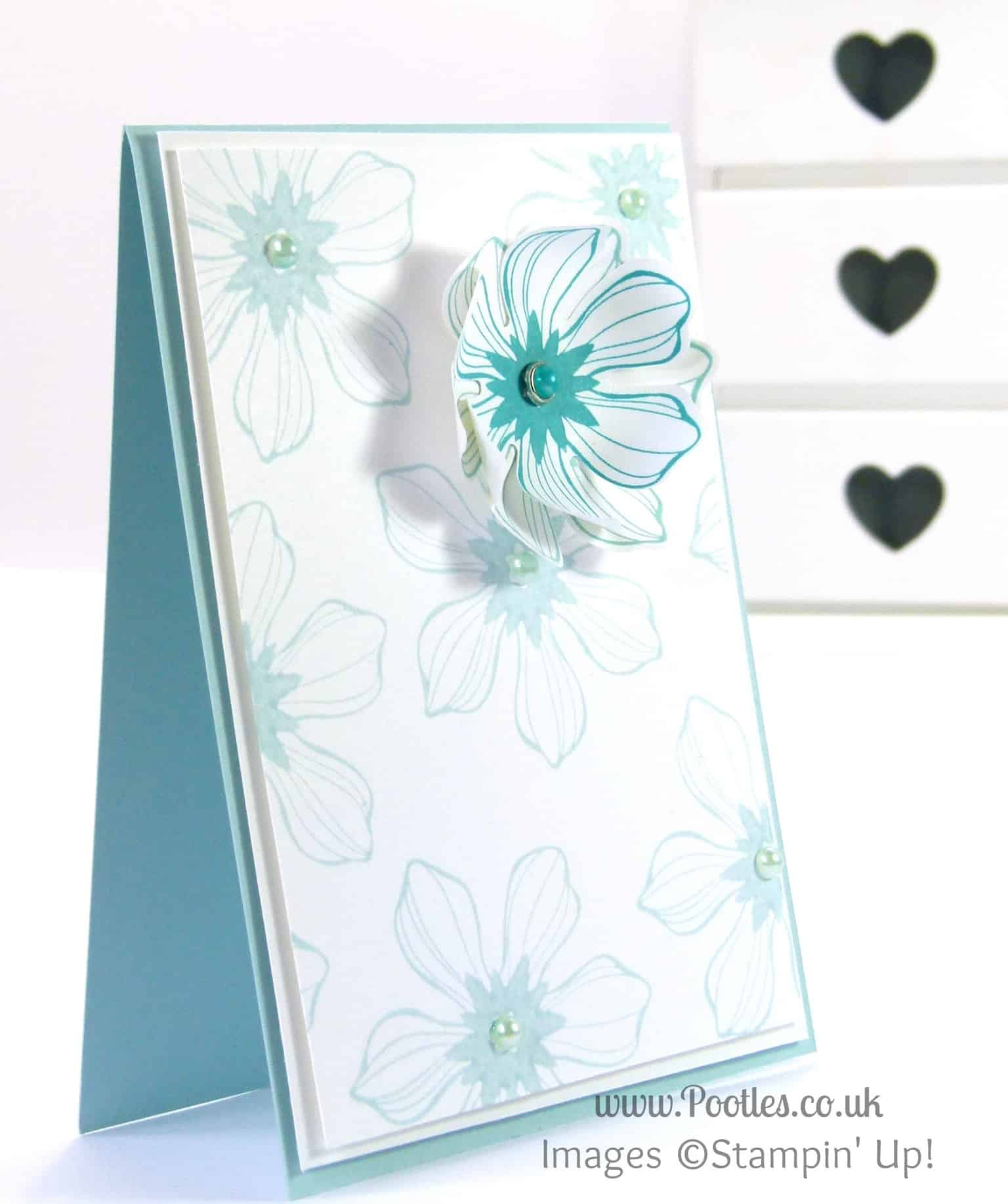 Stampin' Up! UK Demonstrator Pootles - Beautiful Bunch Card using Stampin' Up! Products
