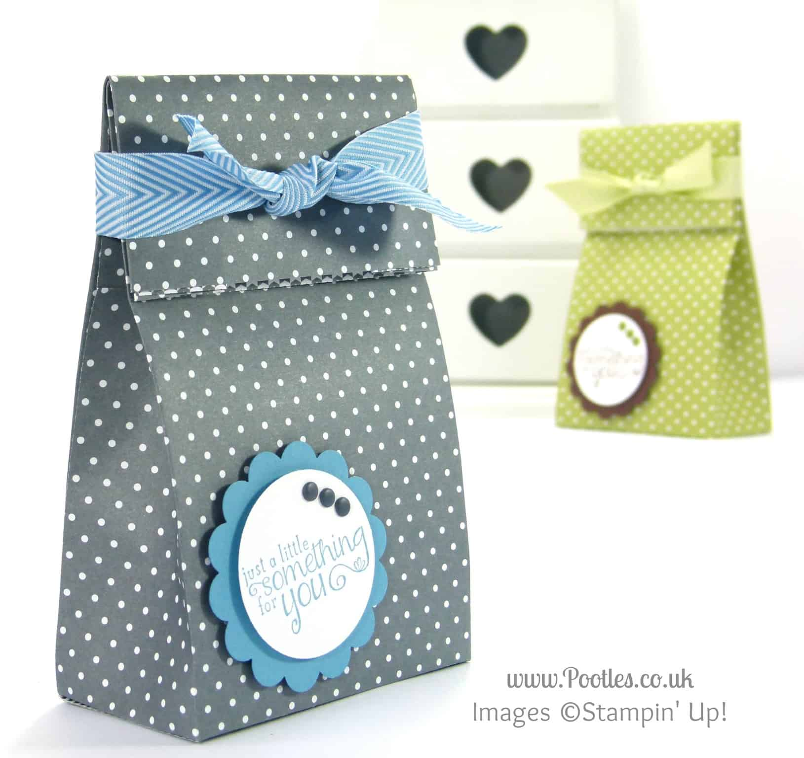 Stampin Up! UK Demonstrator Pootles - Fold Over Paper Bag Tutorial