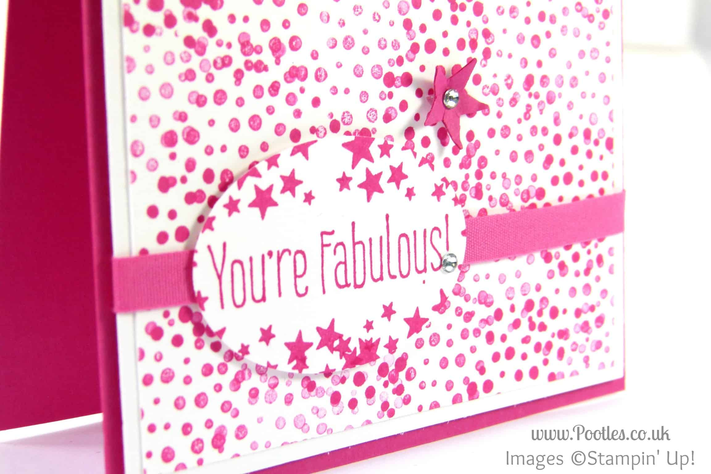 Stampin' Up! UK Demonstrator Pootles - High Five for an Optical Illusion Card... Close Up Detail