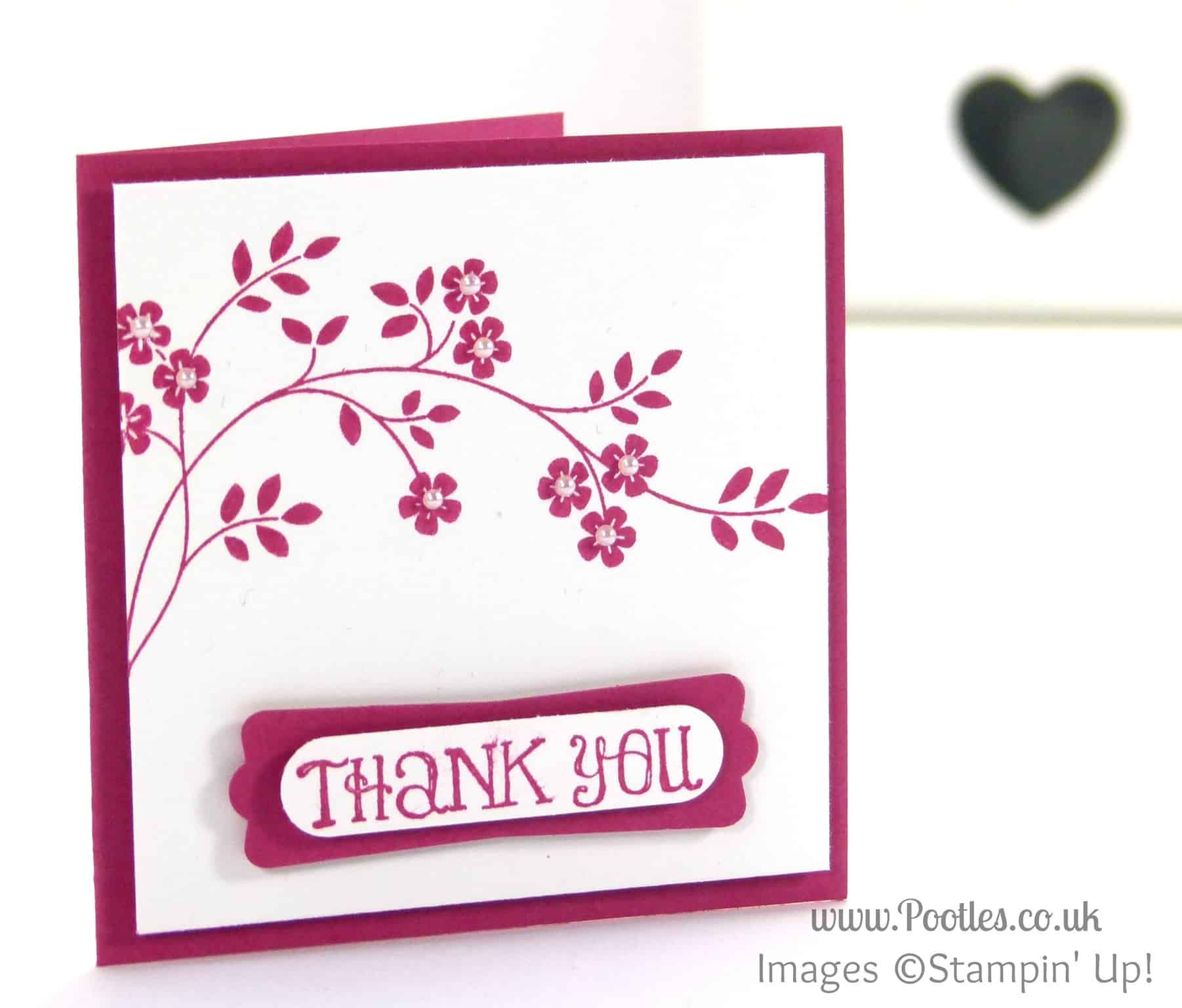 Stampin' Up! UK Demonstrator Pootles - Hopeful Thoughts Thank You Card - To You!