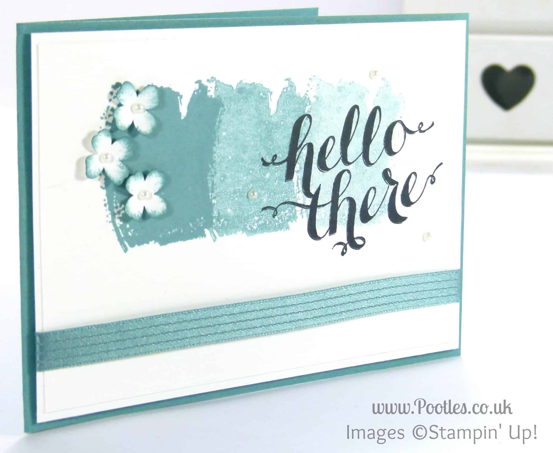 Stampin' Up! UK Demonstrator Pootles - In Colour Thank You Card Tutorial + Sponge Prep Tip