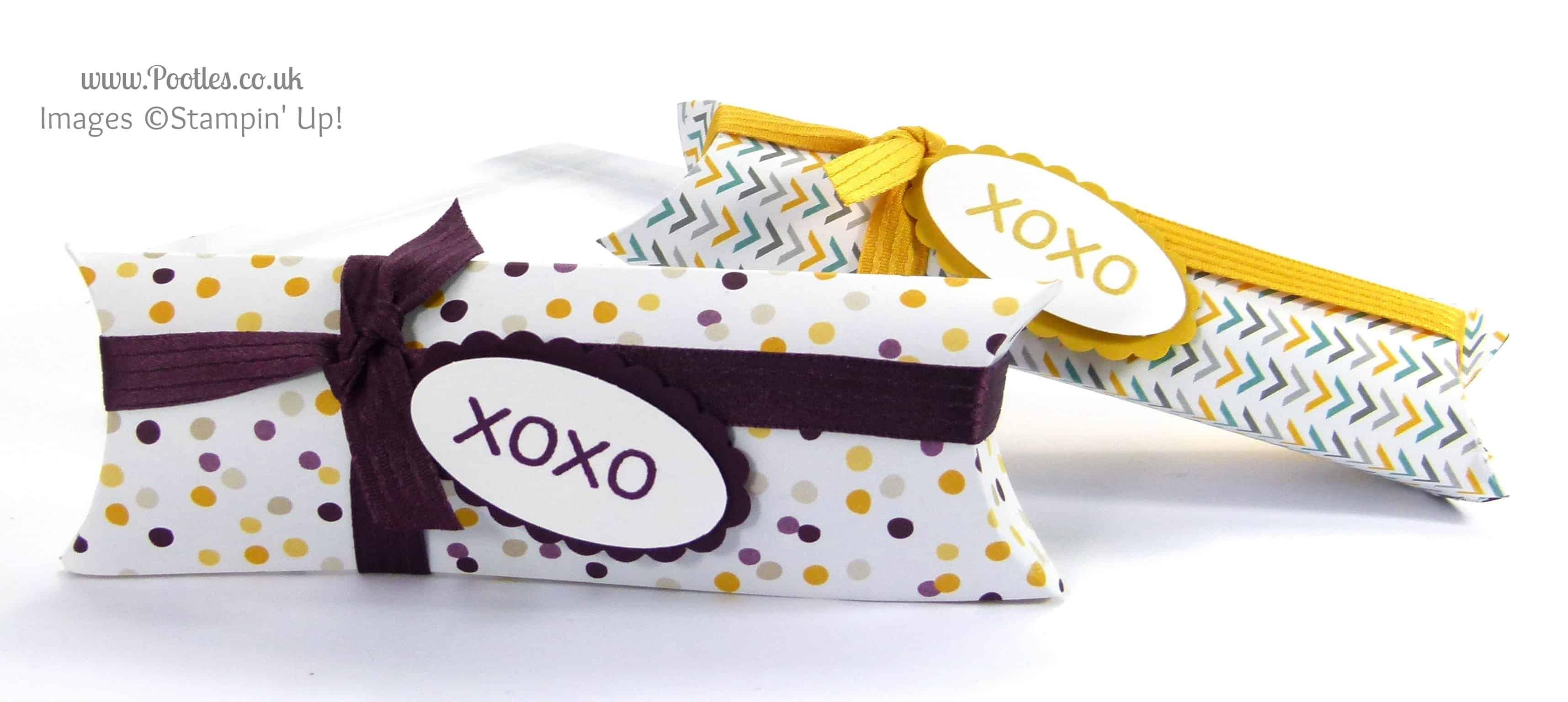 Stampin Up UK Demonstrator Pootles - Pillow Box using DSP Stacks Tutorial