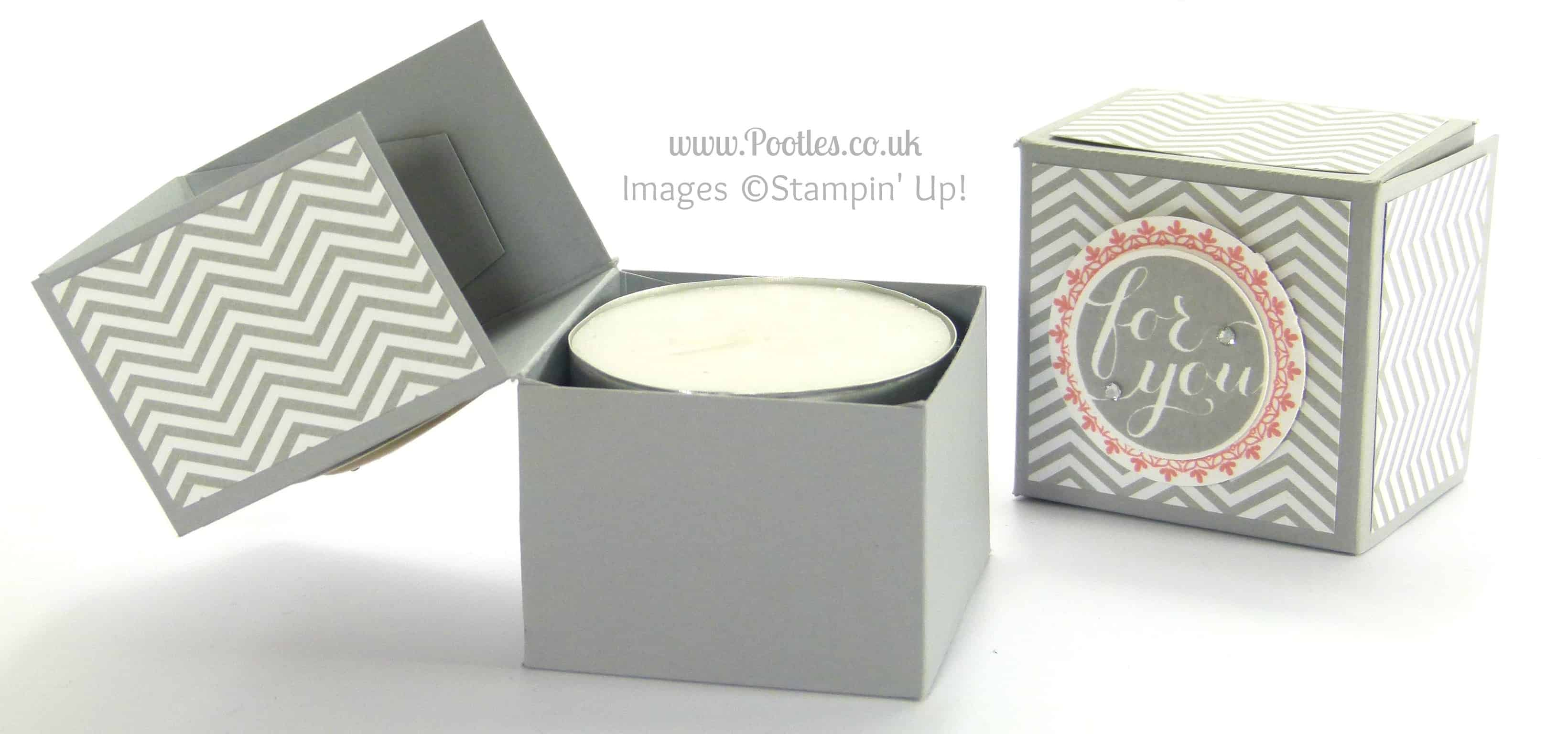 Stampin' Up! UK Demonstrator Pootles - Pillow Gifts (Double Giant Tea Light Treat Box)