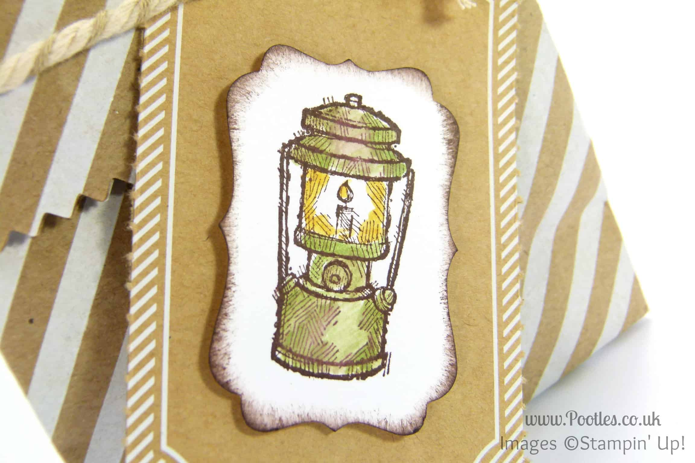 Stampin' Up! UK Demonstrator Pootles - Sweetie Round Bags for Camping Tutorial Blender Pen Detail