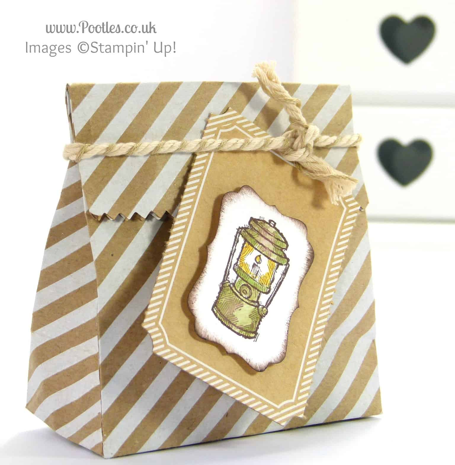 Stampin' Up! UK Demonstrator Pootles - Sweetie Round Bags for Camping Tutorial