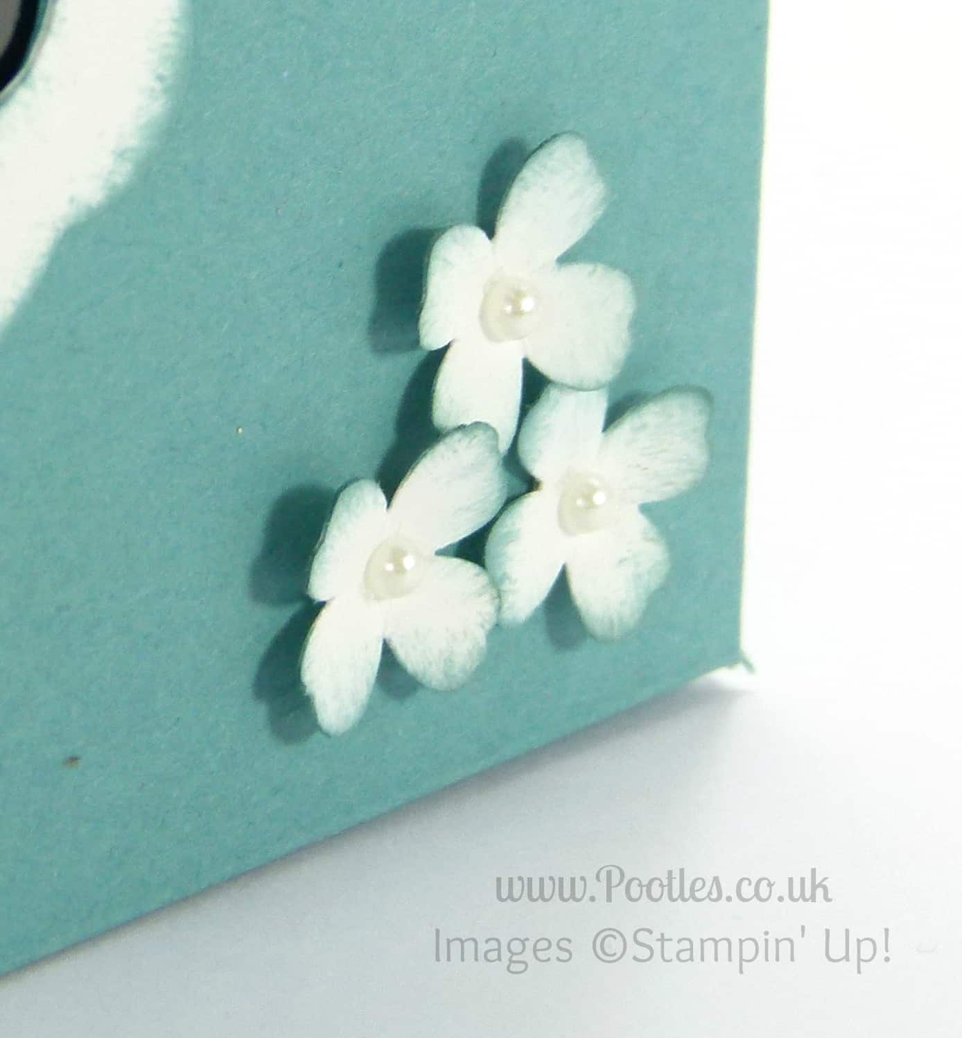 Stampin' Up! UK Demonstrator Pootles - Thank You Card Box & Lid Tutorial Punch Detail