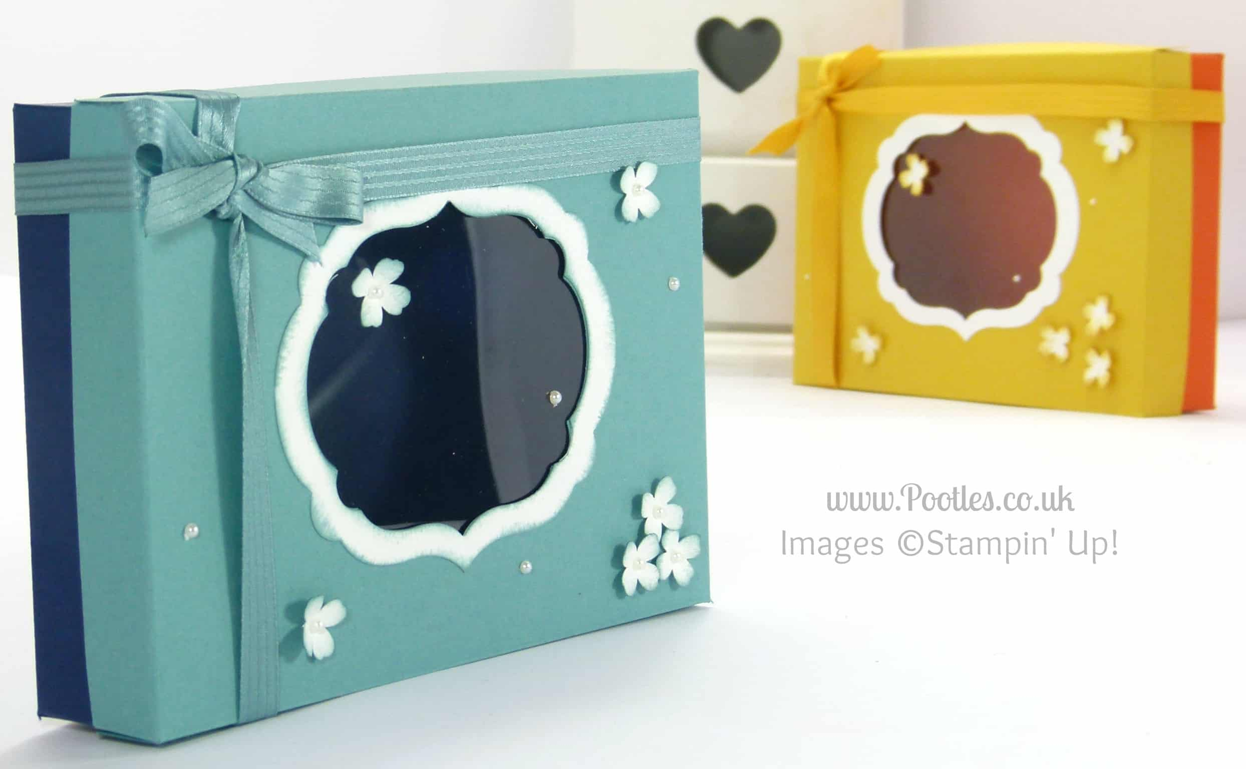 Stampin' Up! UK Demonstrator Pootles - Thank You Card Box & Lid Tutorial