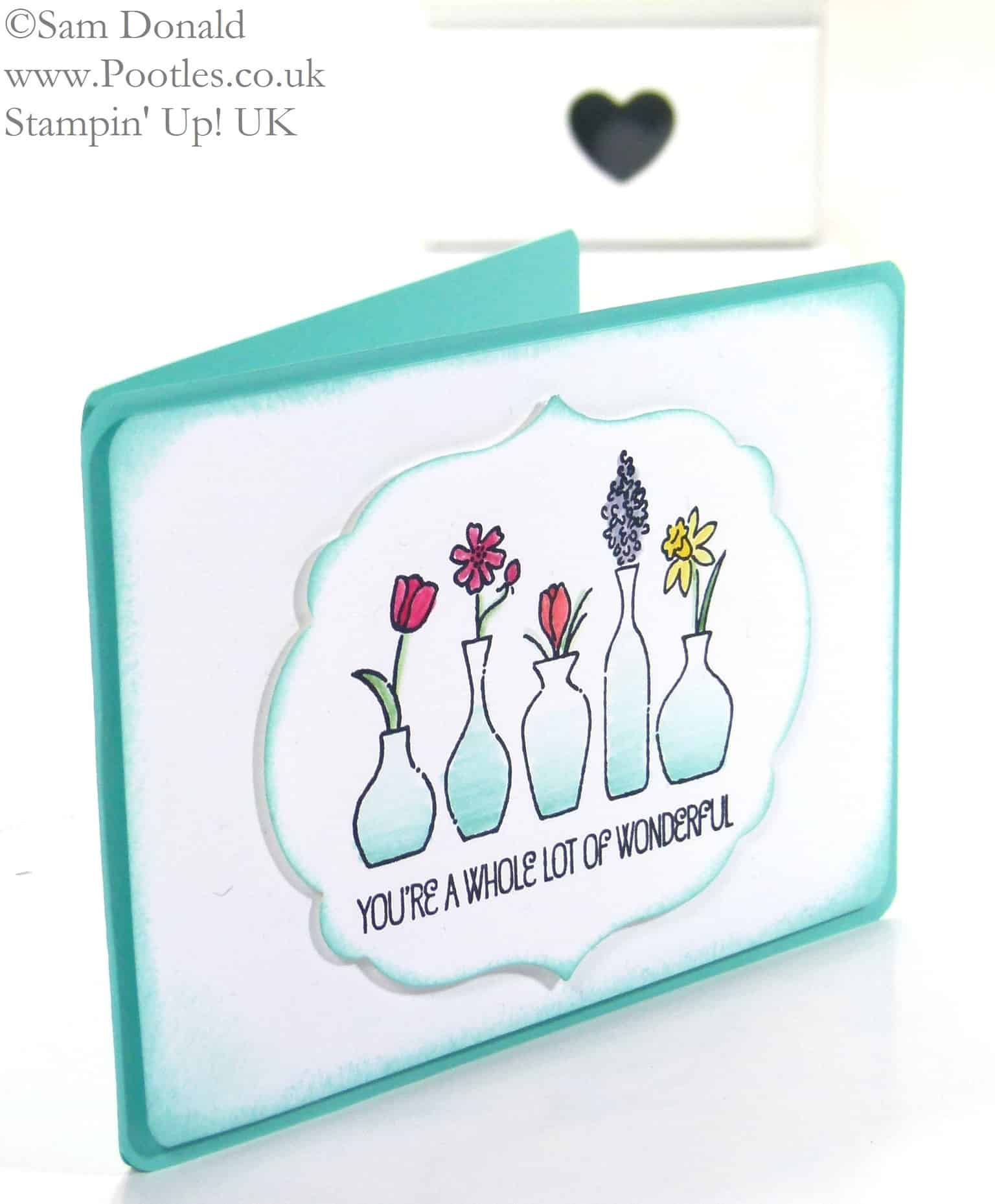 Stampin' Up! UK Independent Demonstrator Pootles - Vivid Vases - Blended...